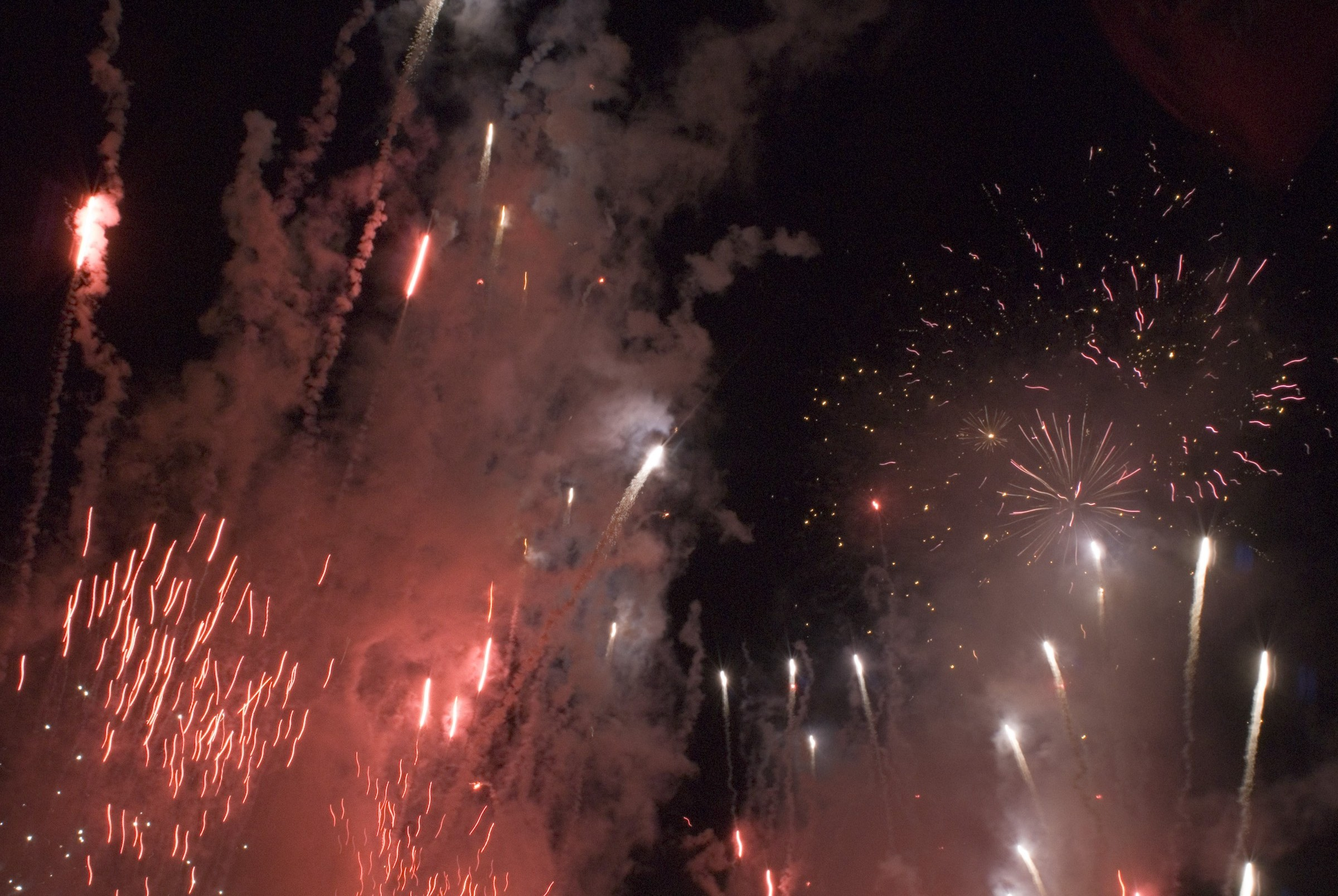 an amazing fireworks display