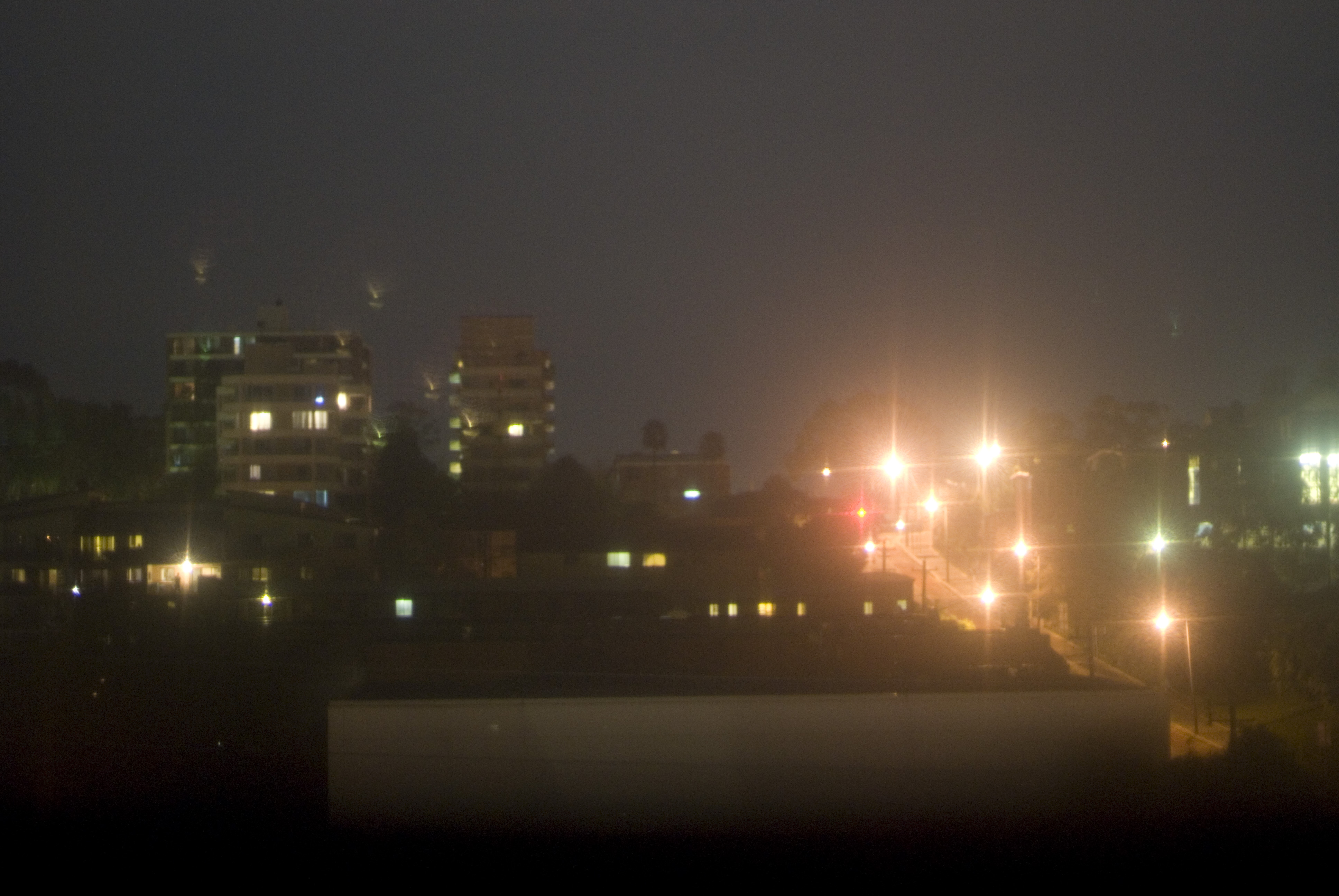 blurred out of focus effect - city lights at night