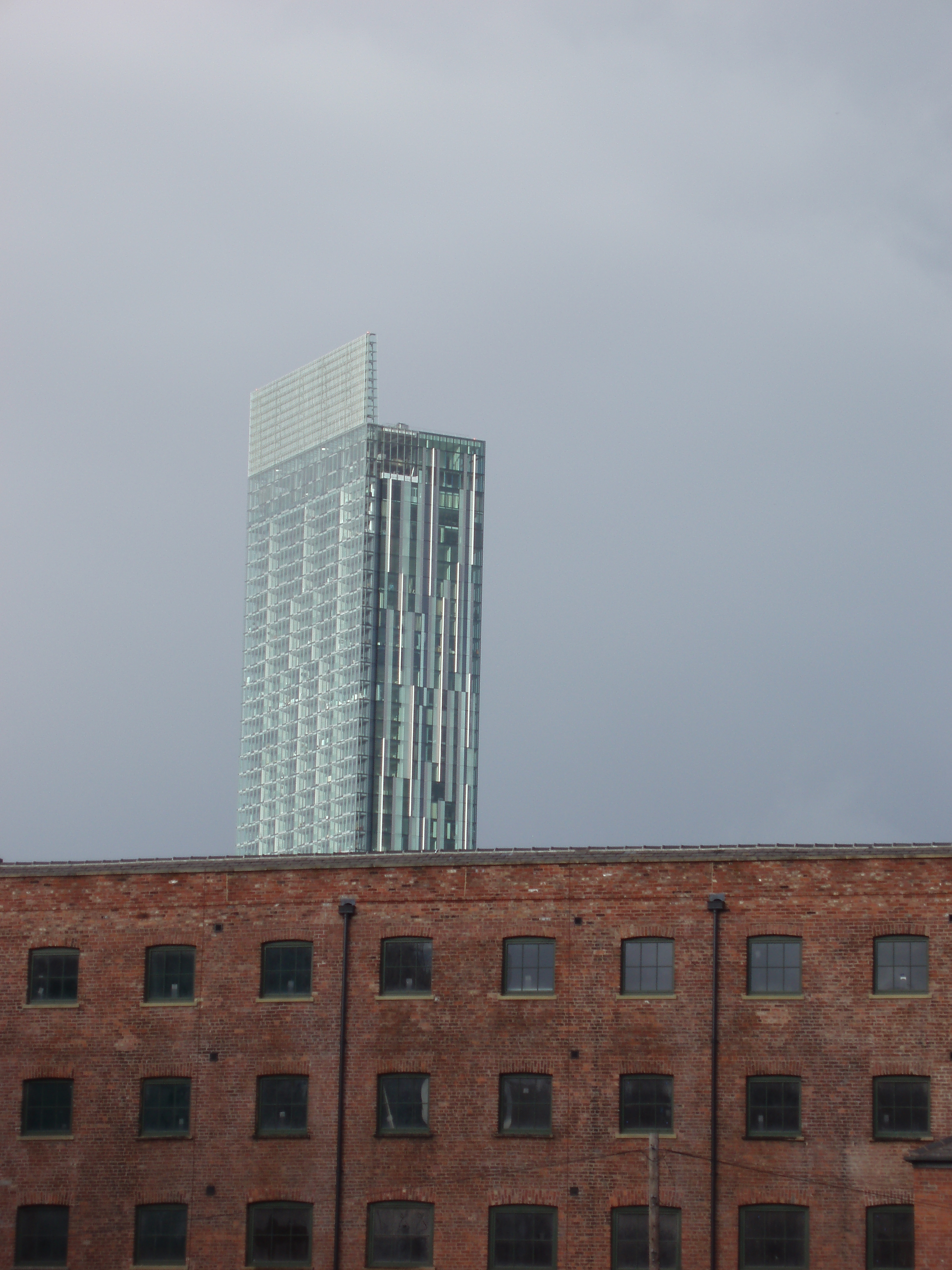 Manchester hotel and appartments and brick warehouse