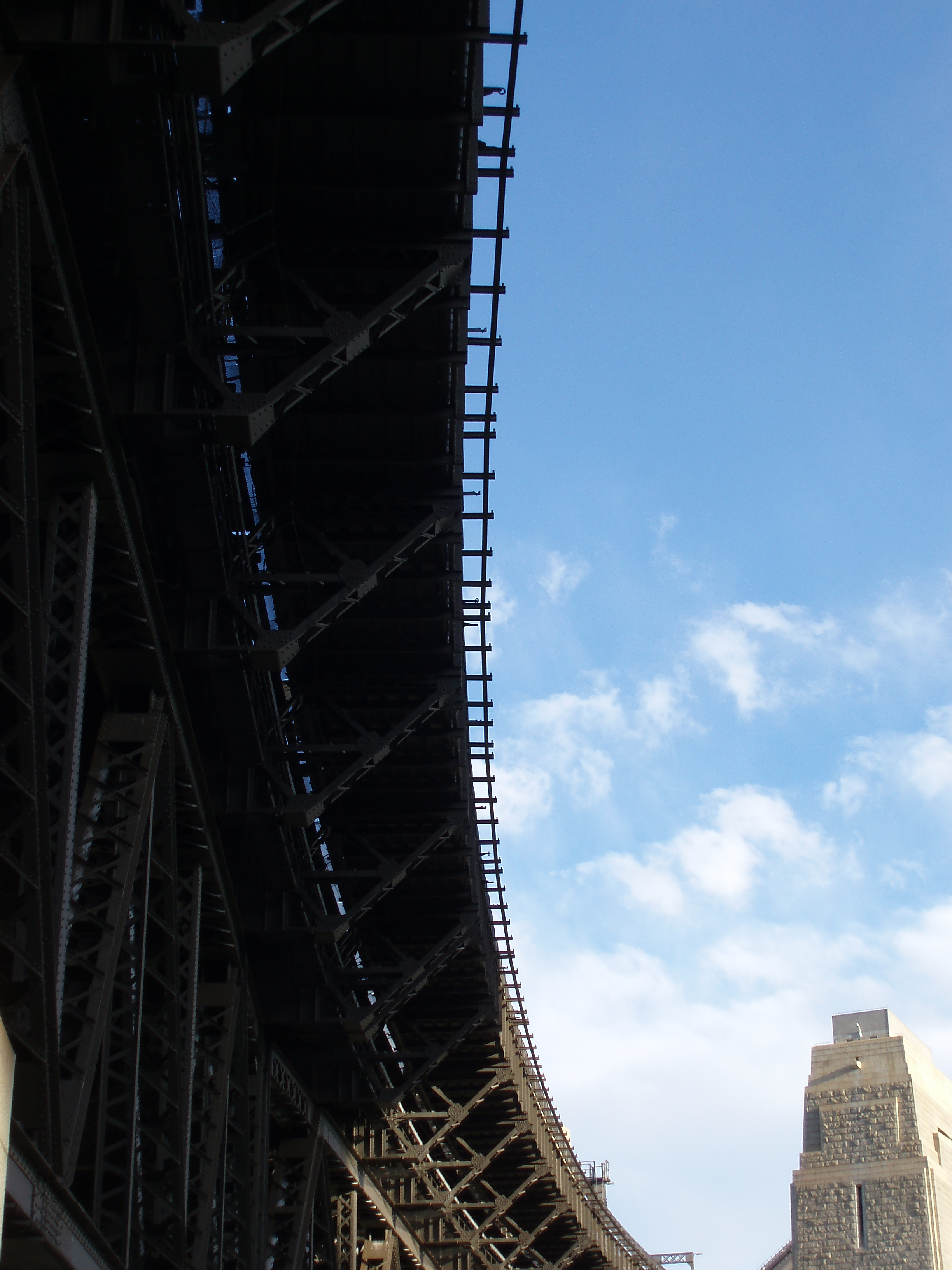 sydney harbour bridge abstract angle