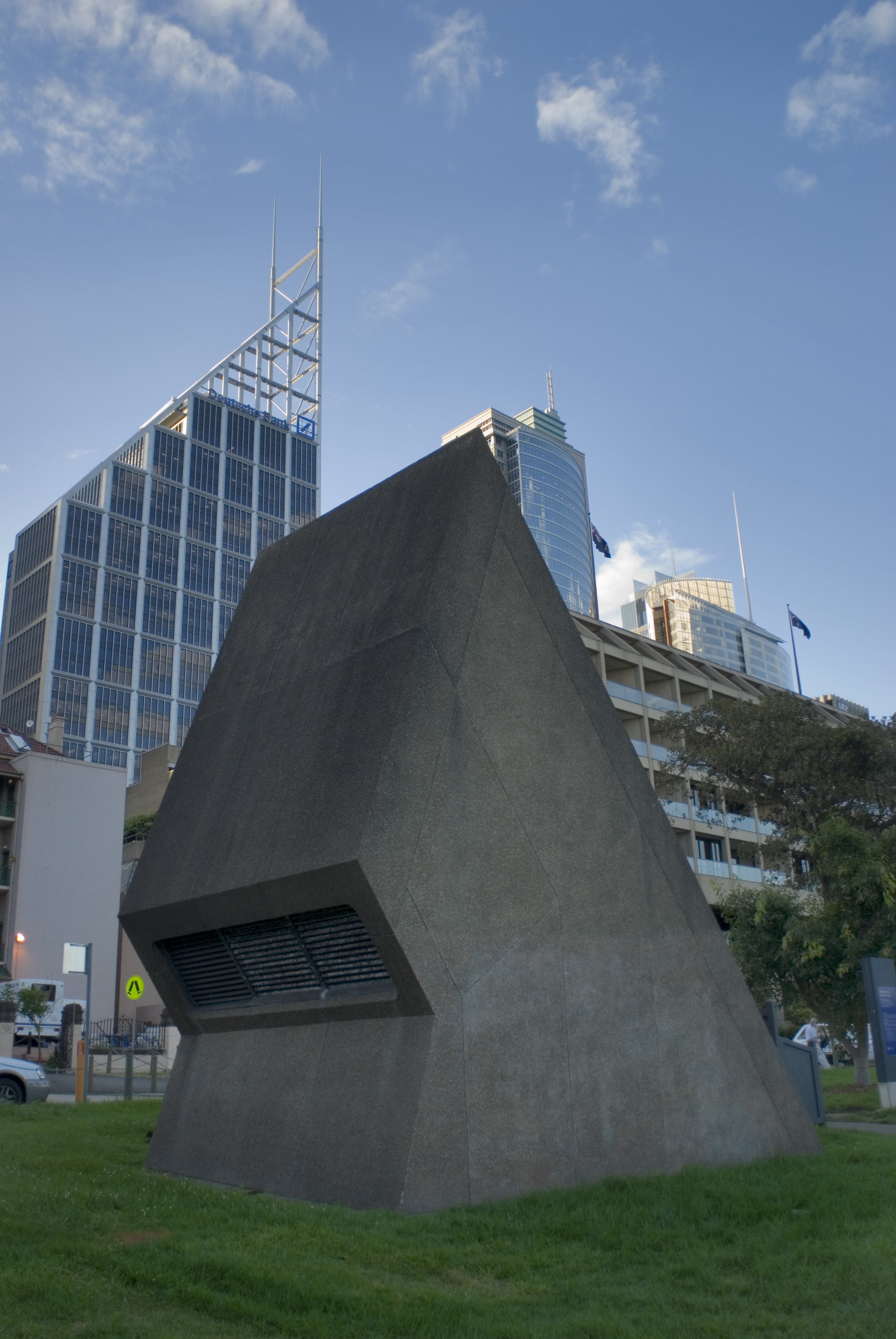concrete air ventilation tower, sydney
