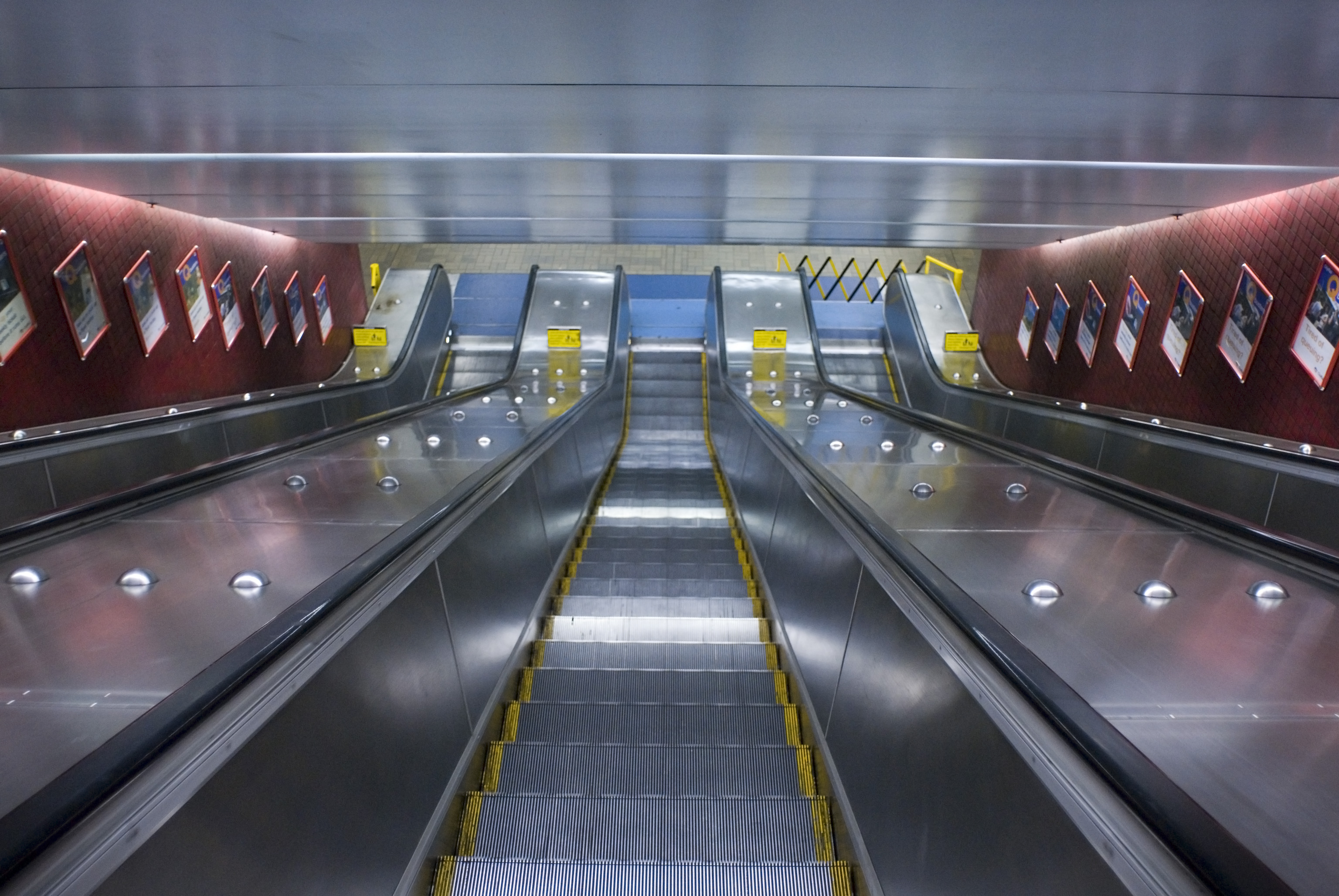 sydney underground railway station escalators