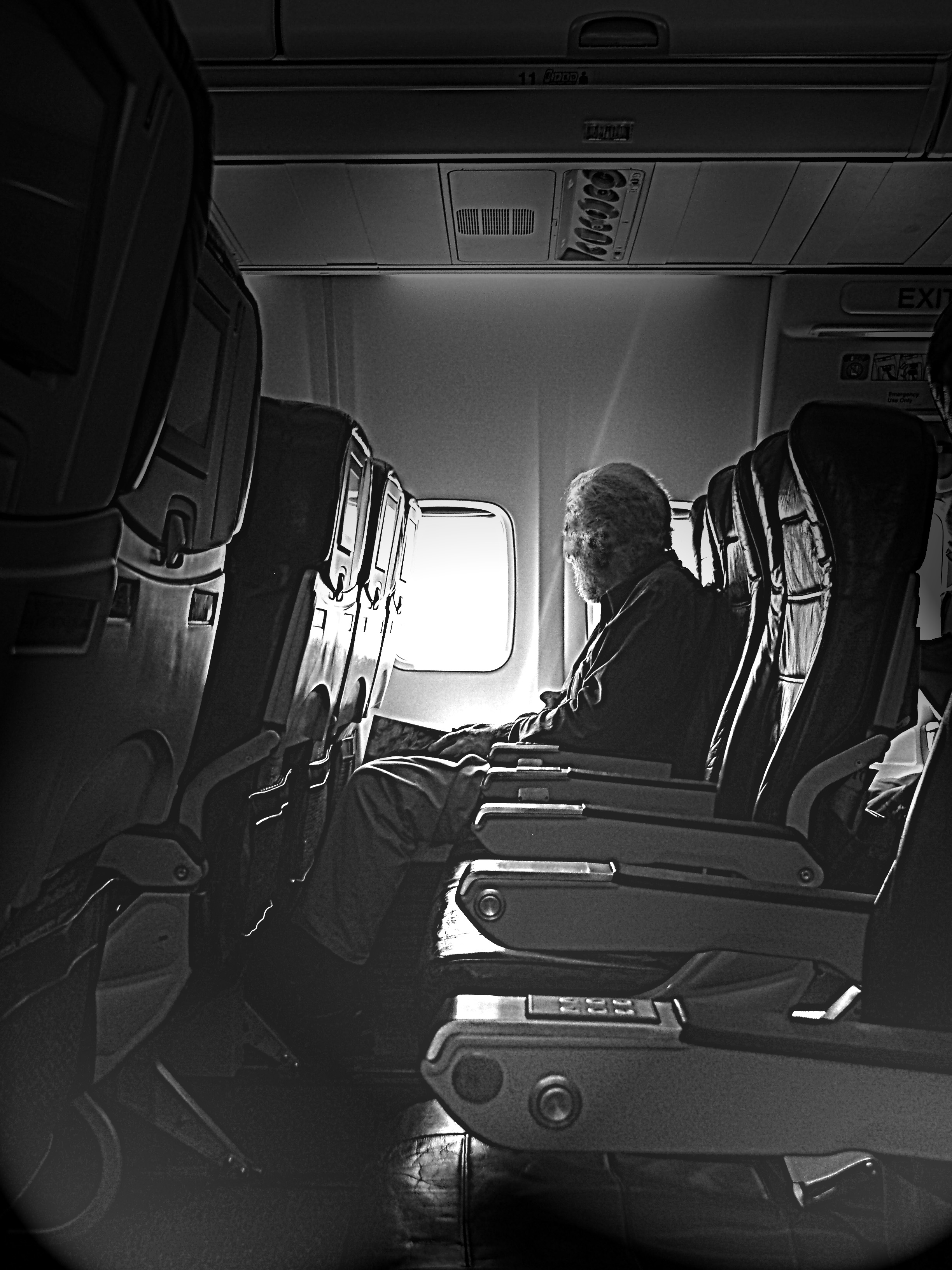 aircraft interior high contrast grain