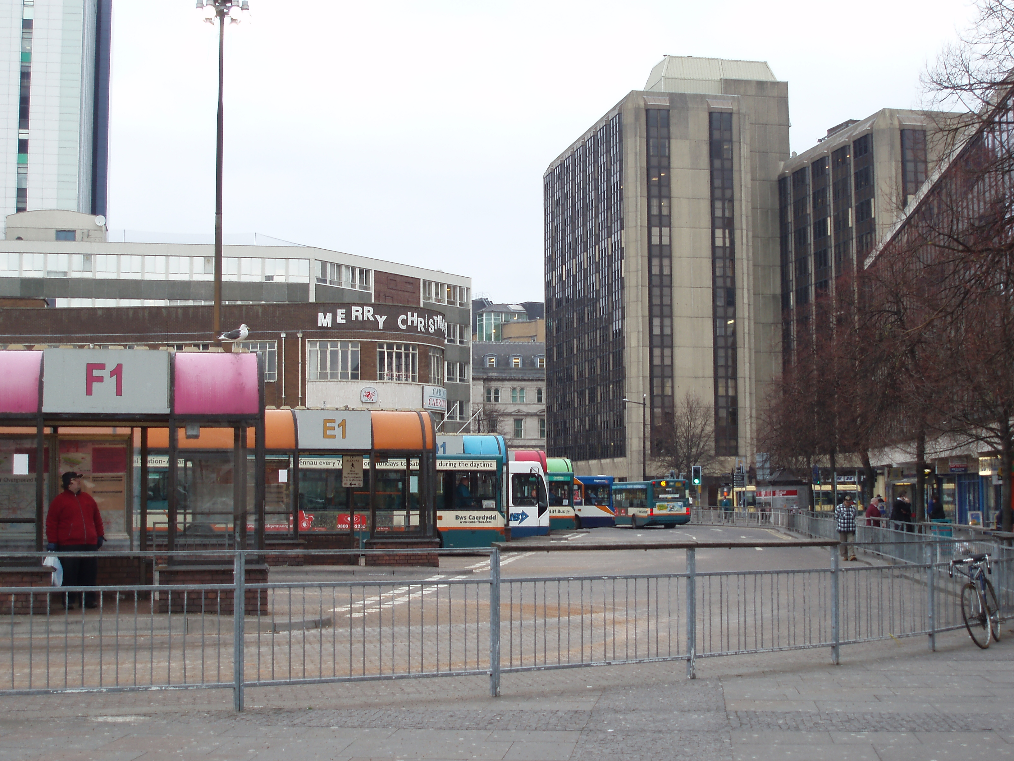 bus station station in central cardiff
