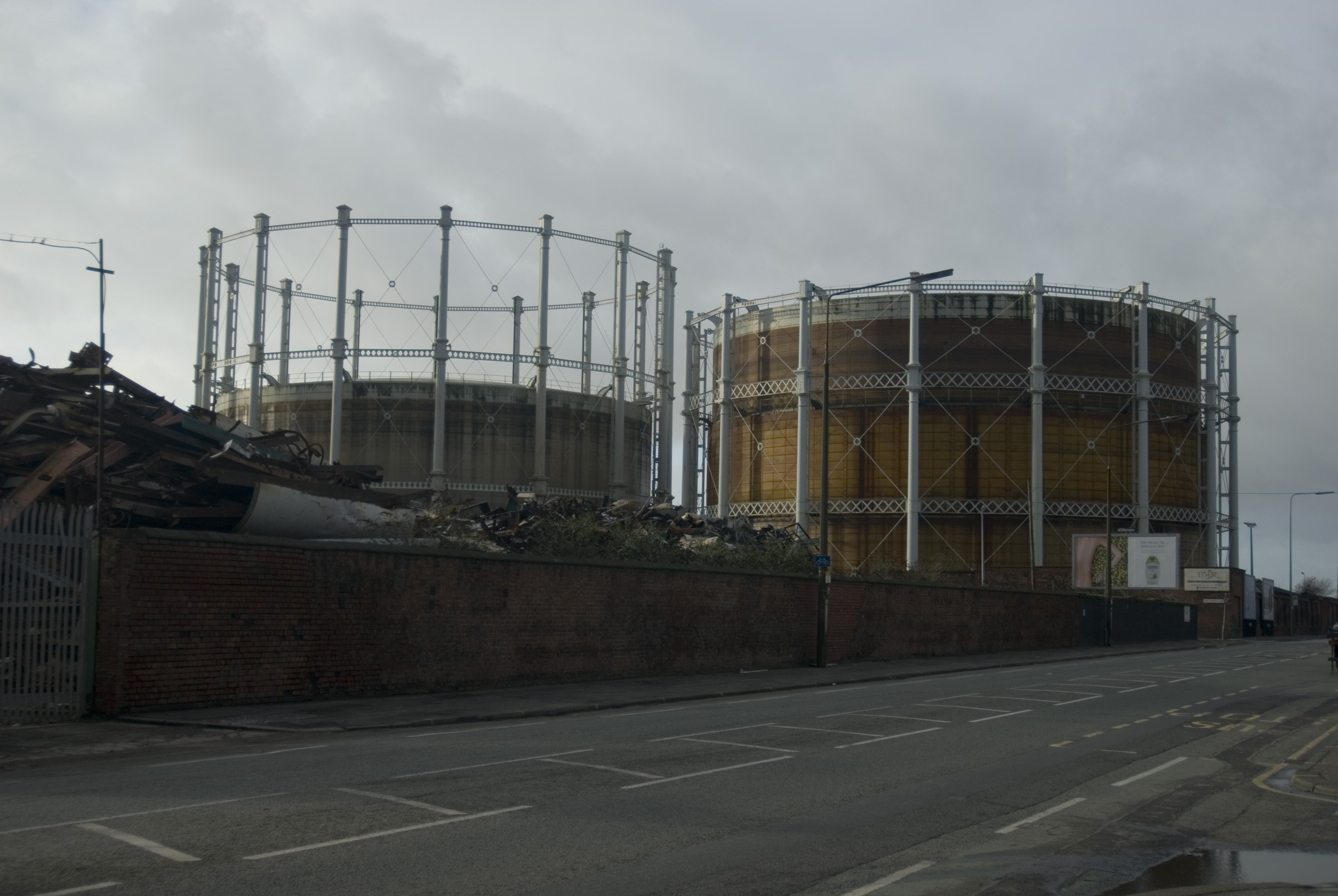 gasometer, and old gas tank in salford manchester