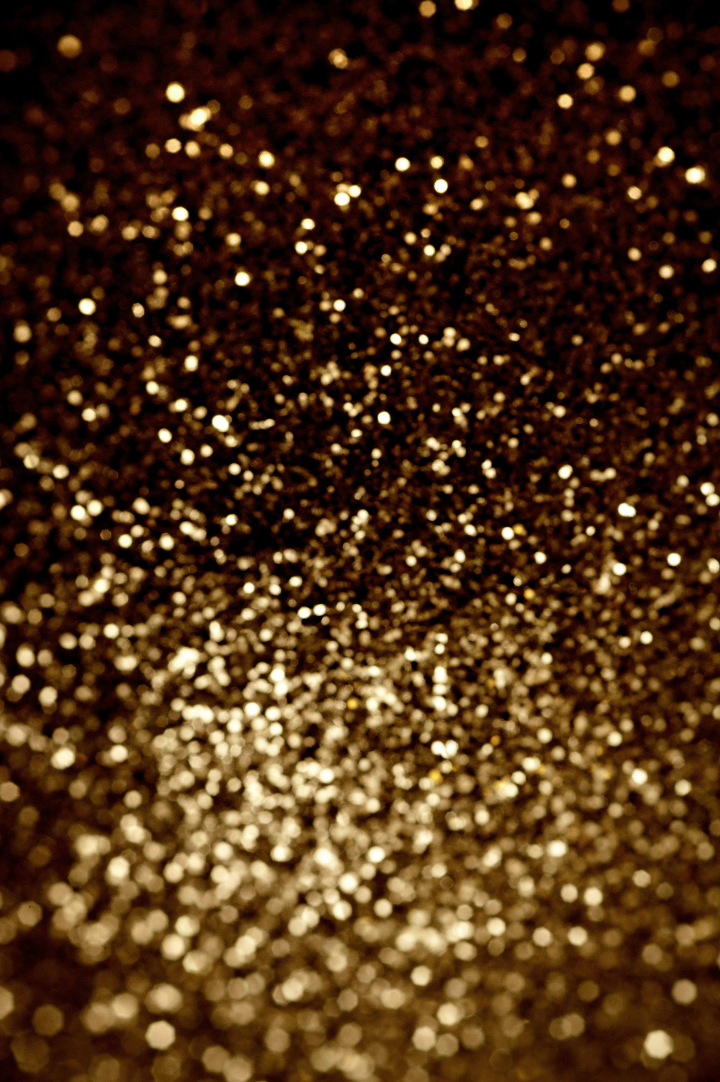 Full Frame Abstract Background of Festive Diffuse Gold Glitter