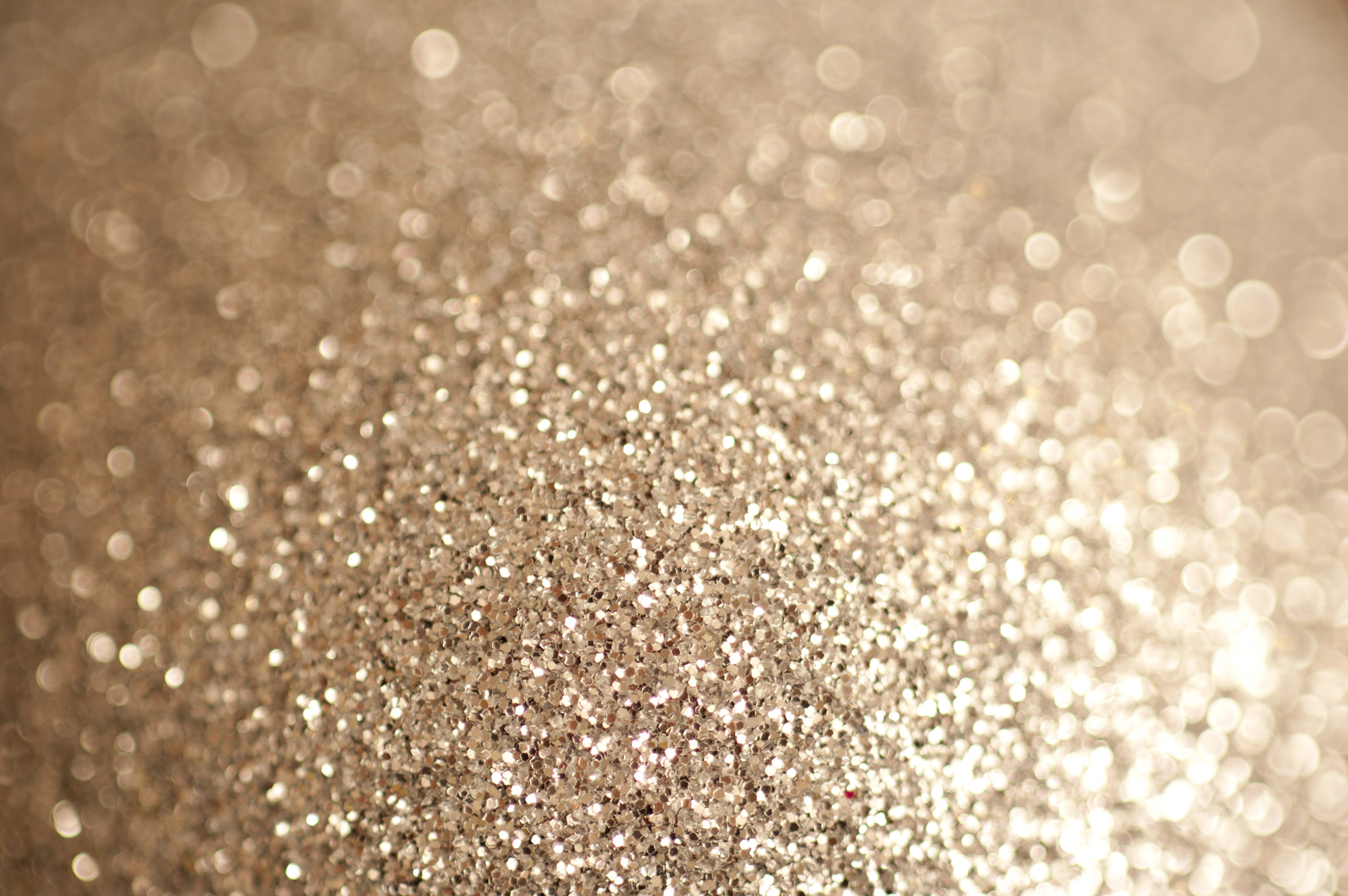 Abstract Close Up Of Sparkling Gold Glitter Background With Shallow Depth  Of Field