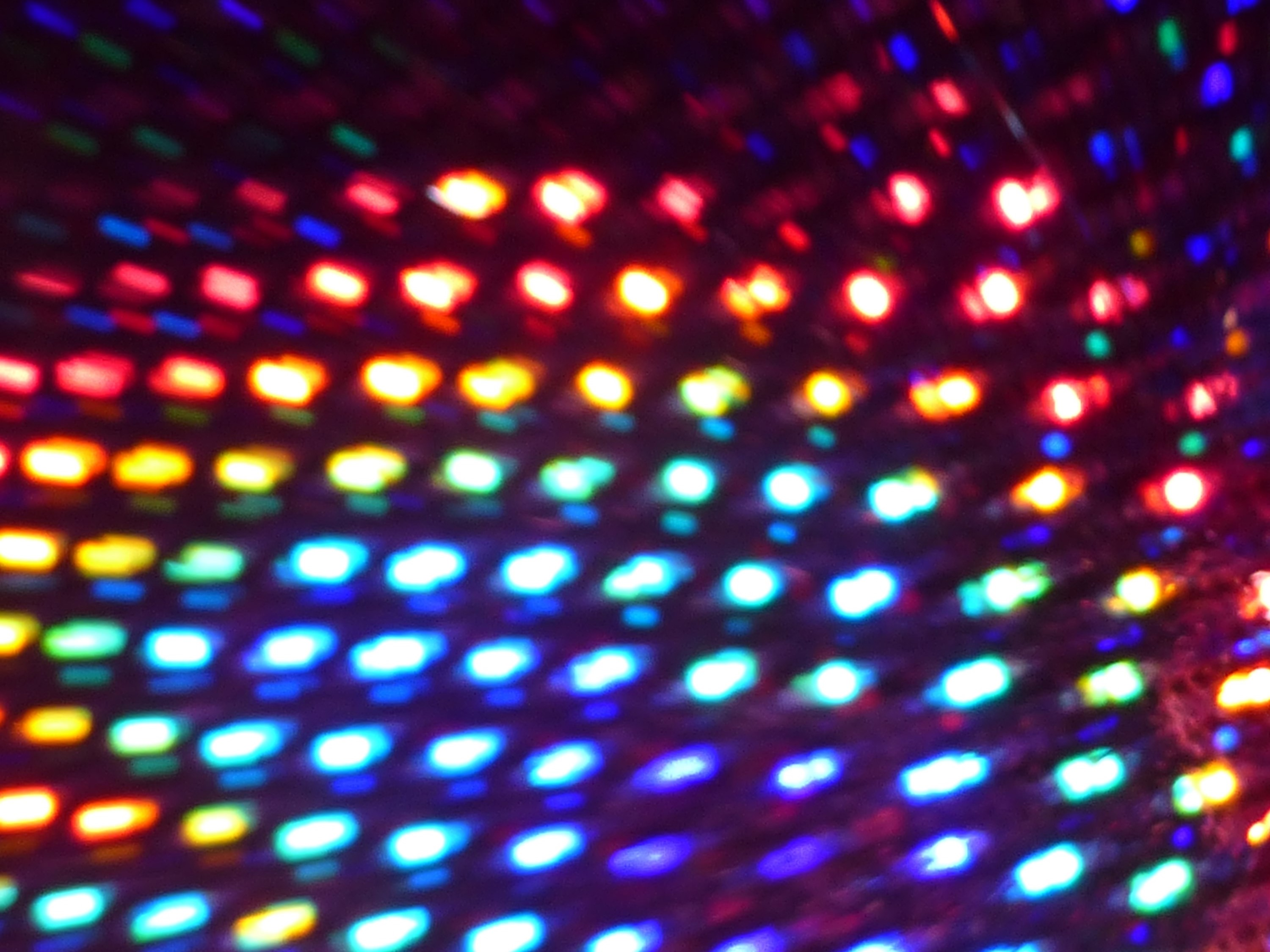 background image featuring an array of colourful lights