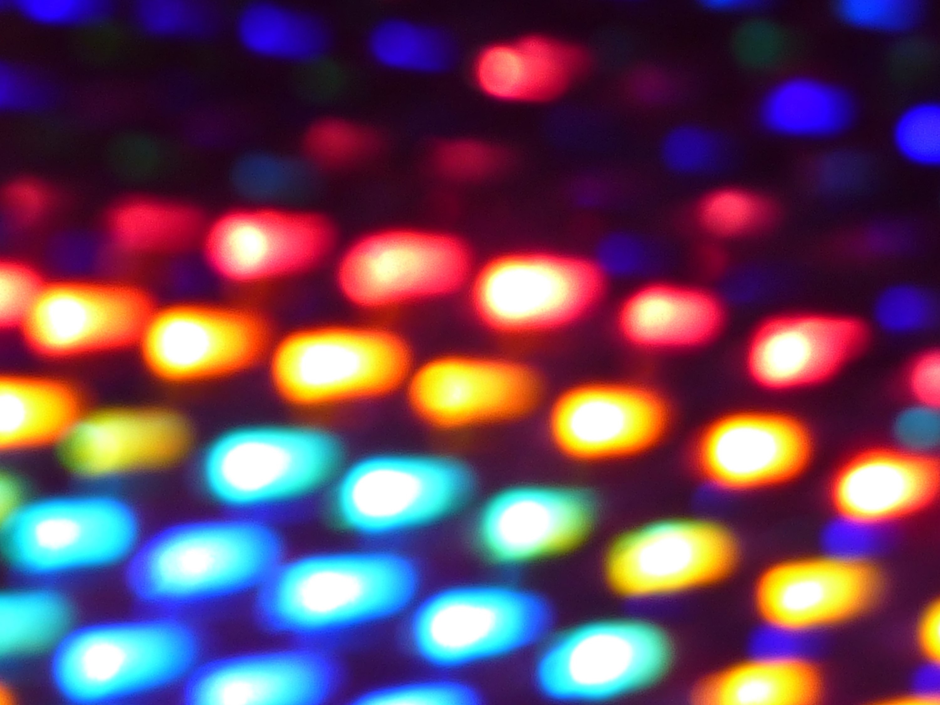 a soft focused background of glowing lights in a grid