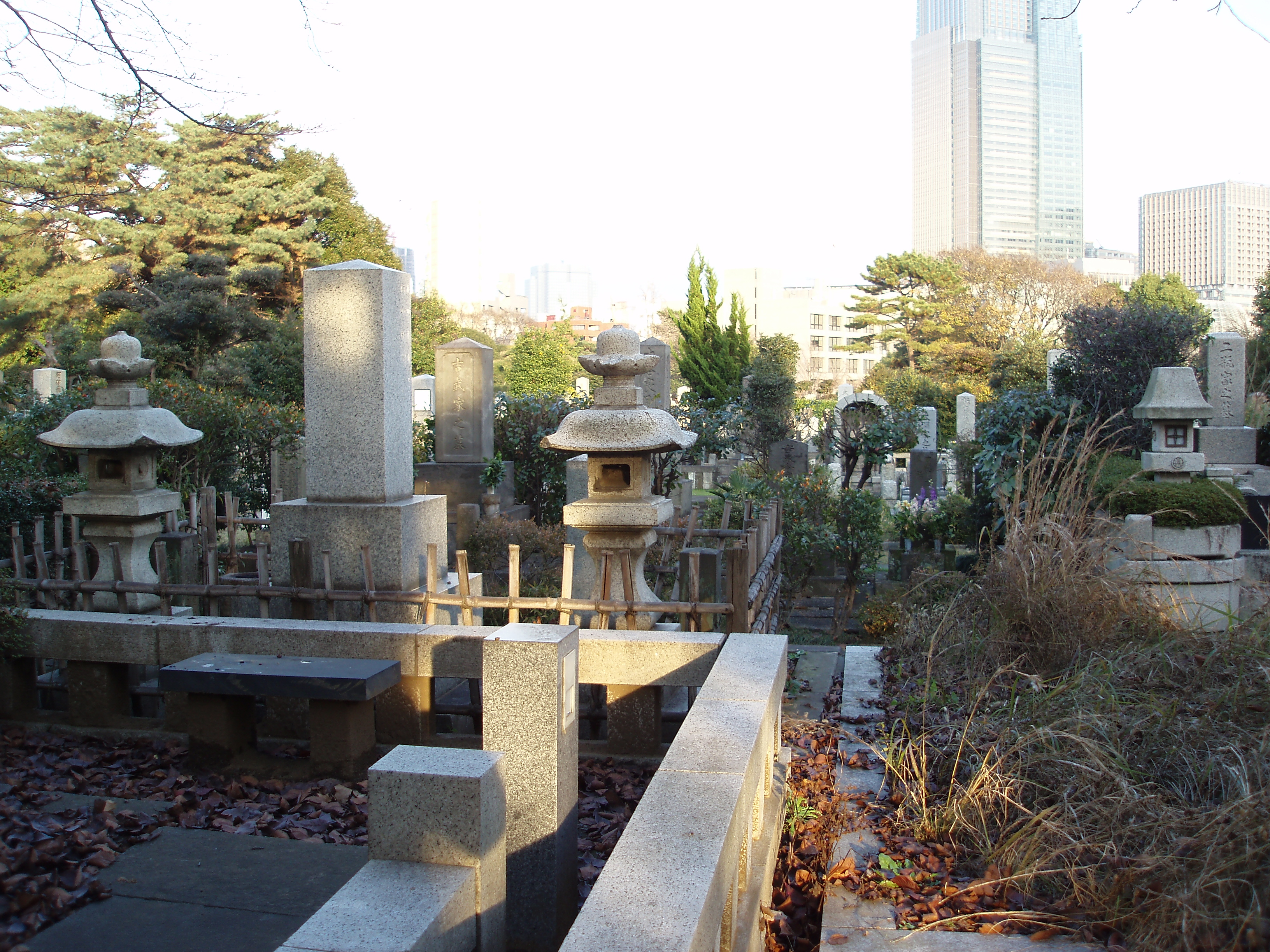graves in a tokyo cemetery