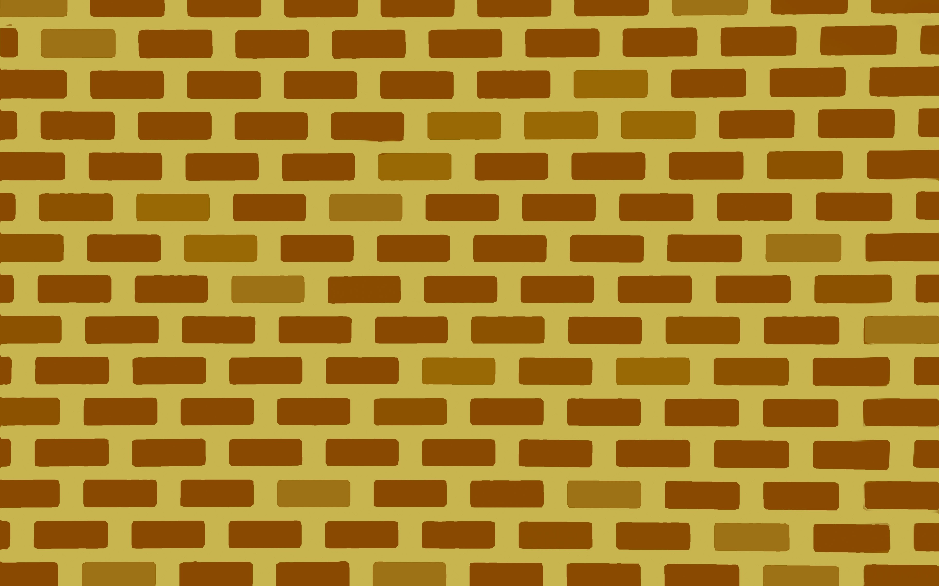 tessellated rectangles lined up as bricks