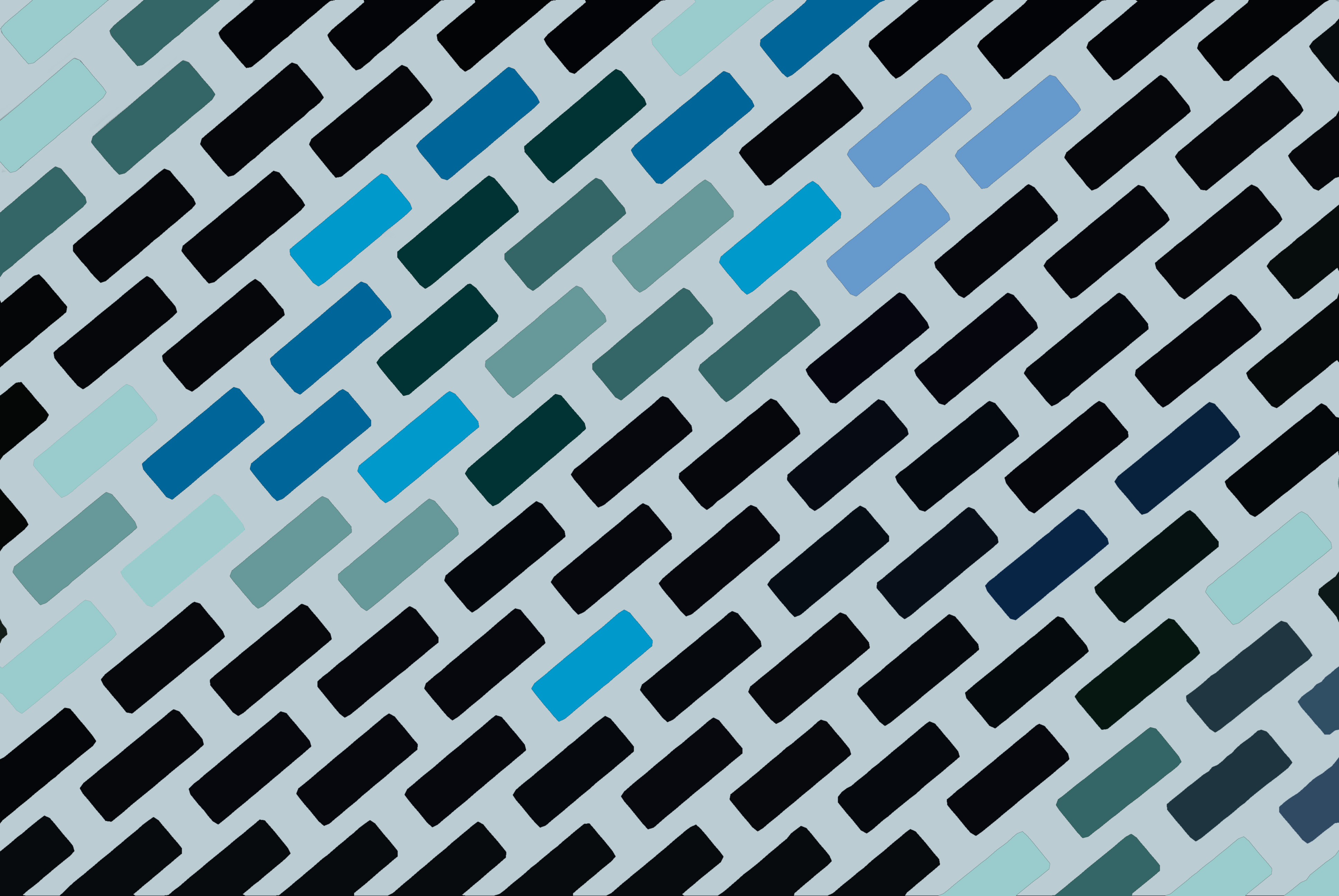tessellated rectangles 45 degreee angle blue colours