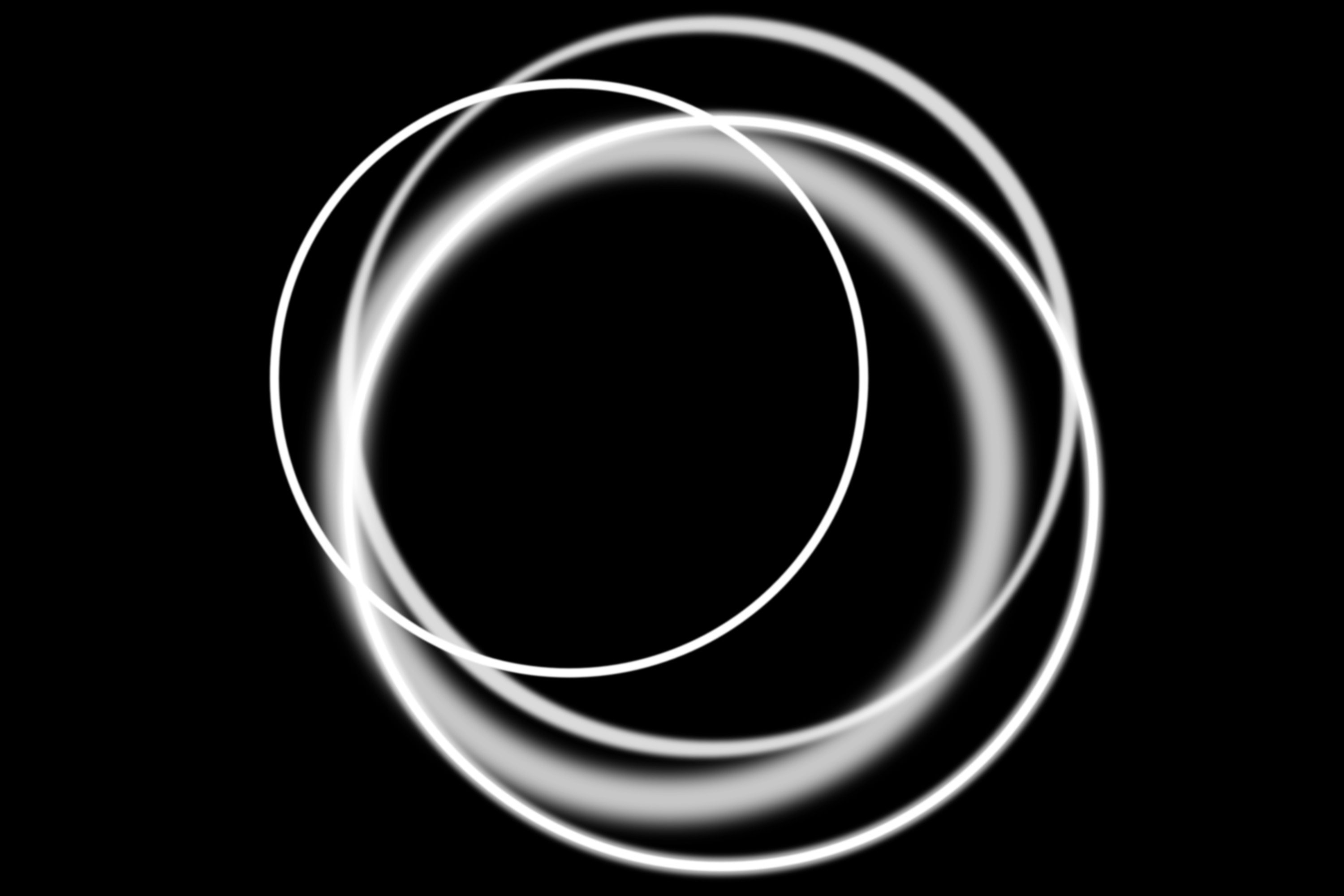patterns of overlapping circles on black