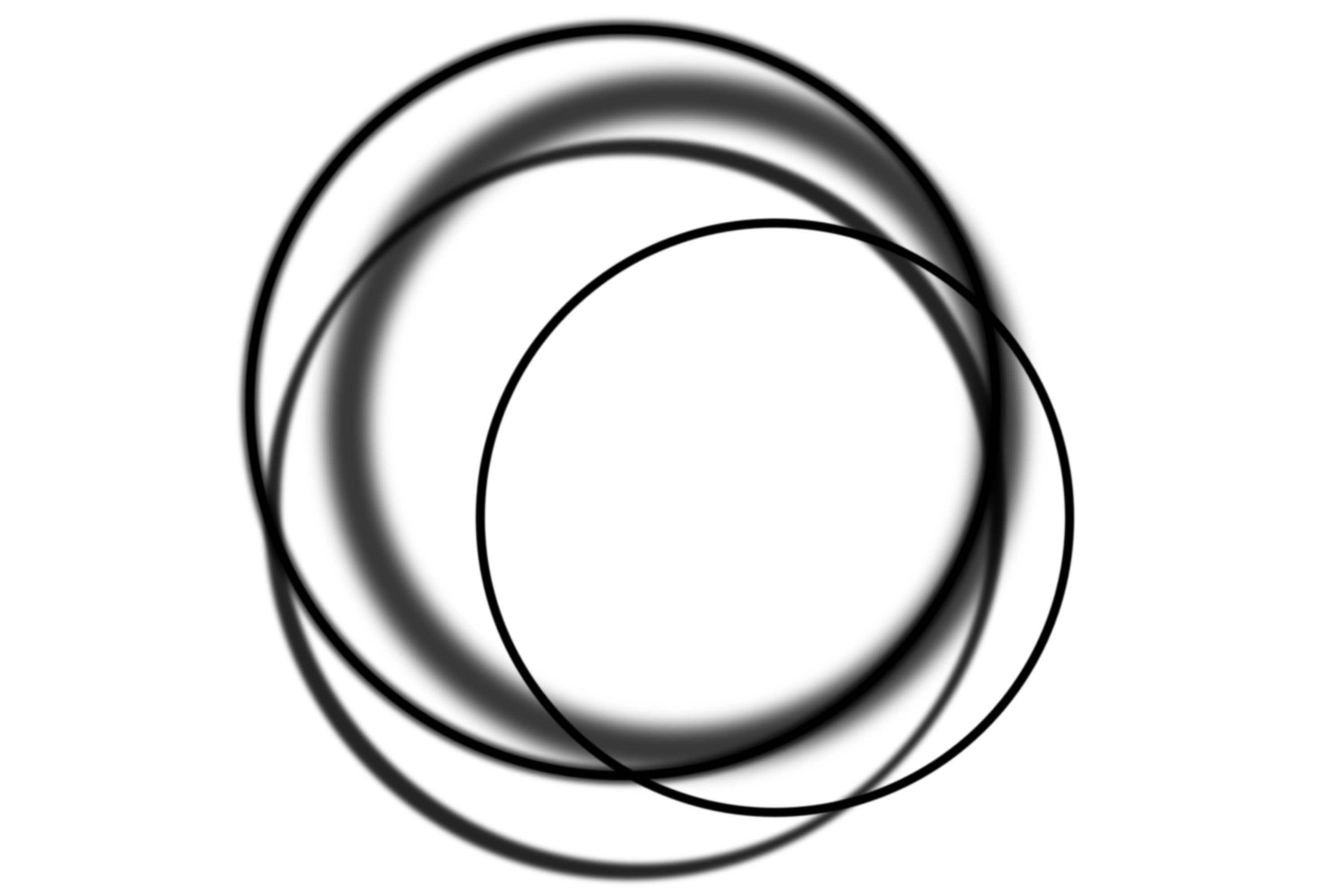 patterns of overlapping circles on white