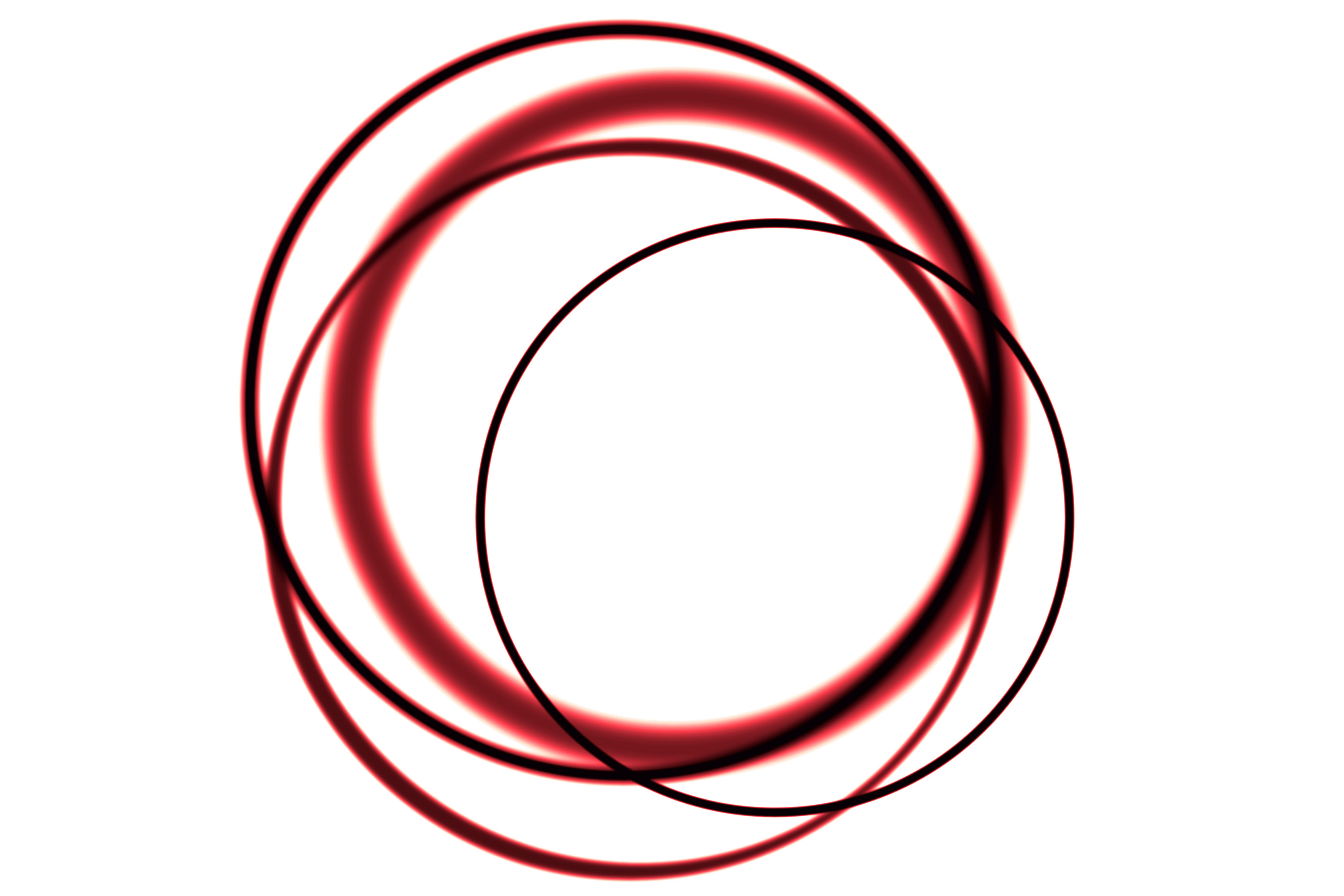 patterns of overlapping circles red