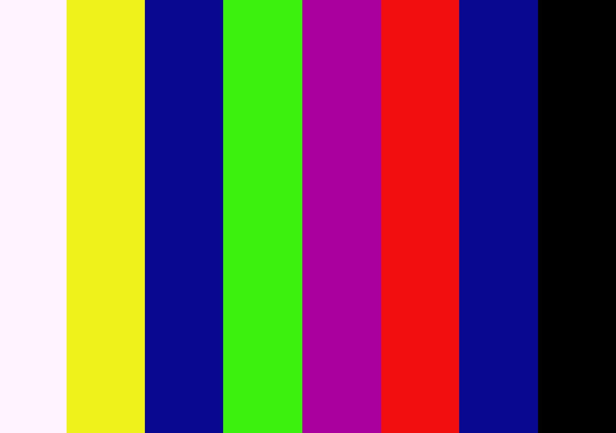 video test card color bars