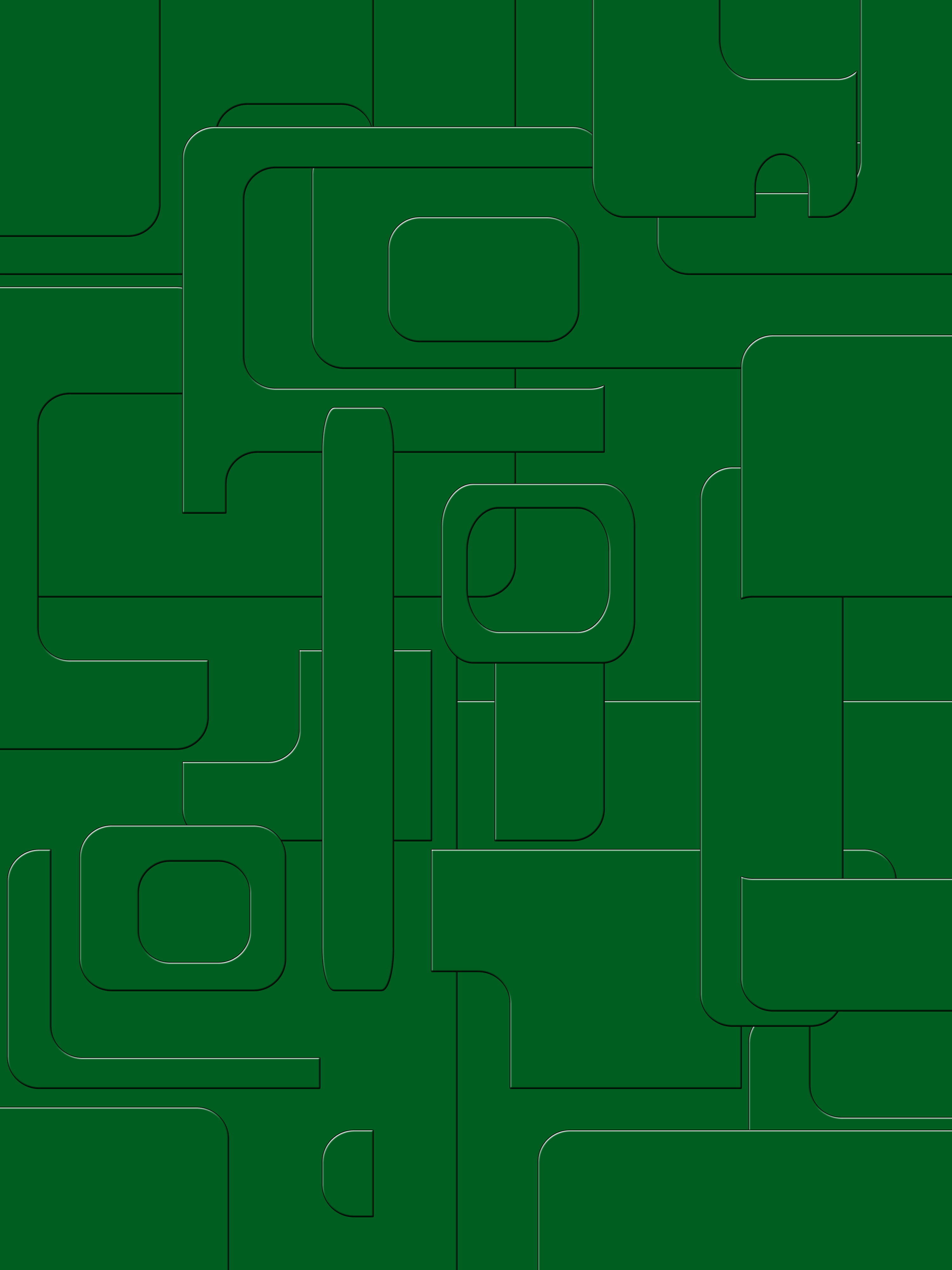 green beveled overlapping rounded squares