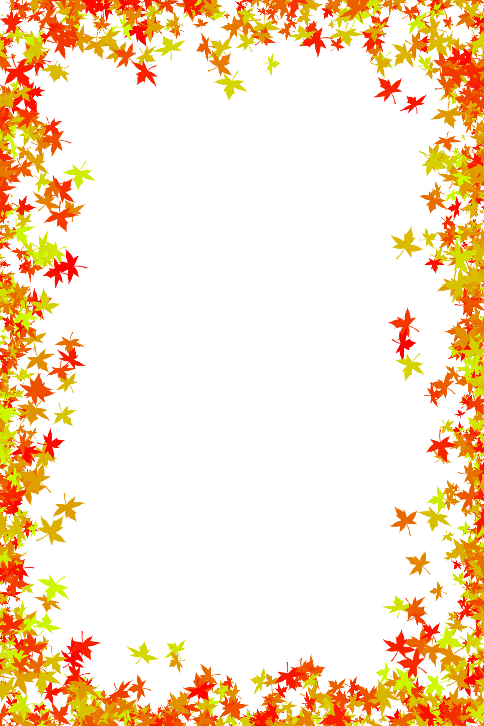 keywords maple leaf autumn colours leaves frame border edges edgeing