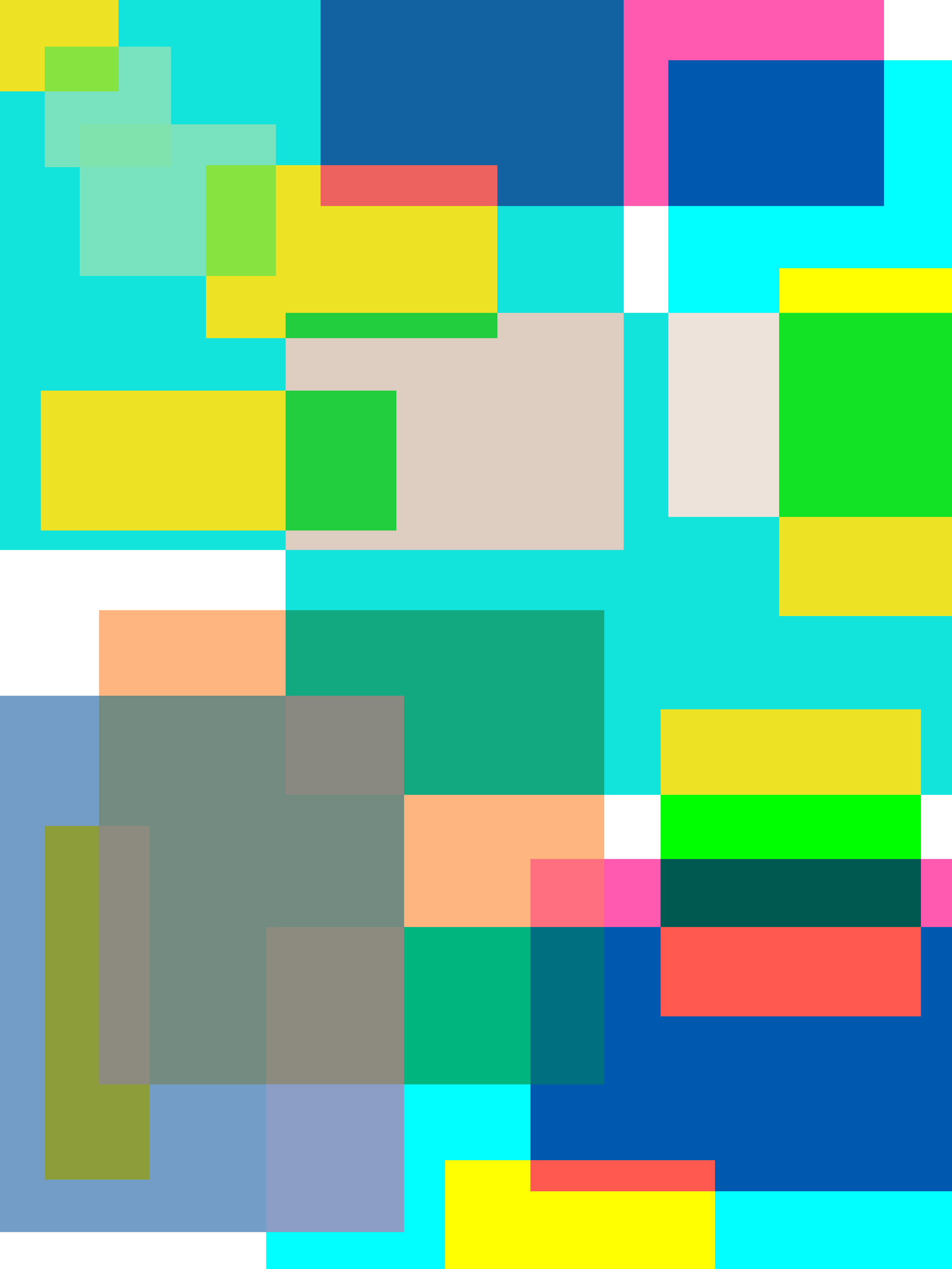 overlapping translucent coloured squares