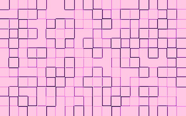 square pink tiles