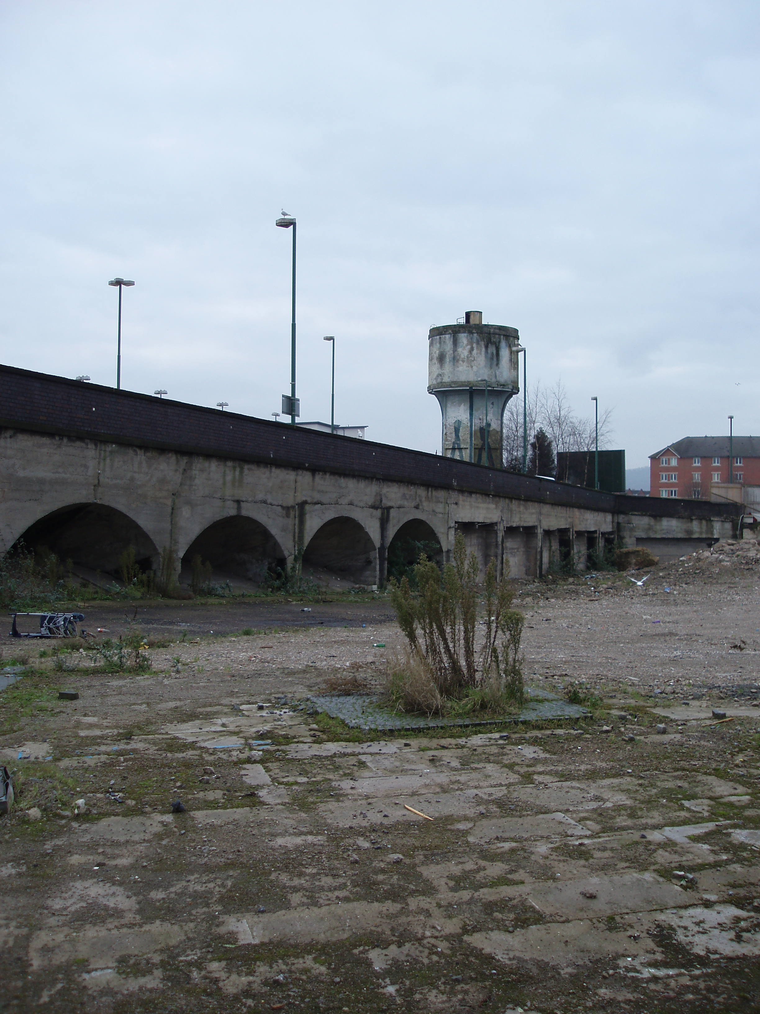 cardiff central station wasteland