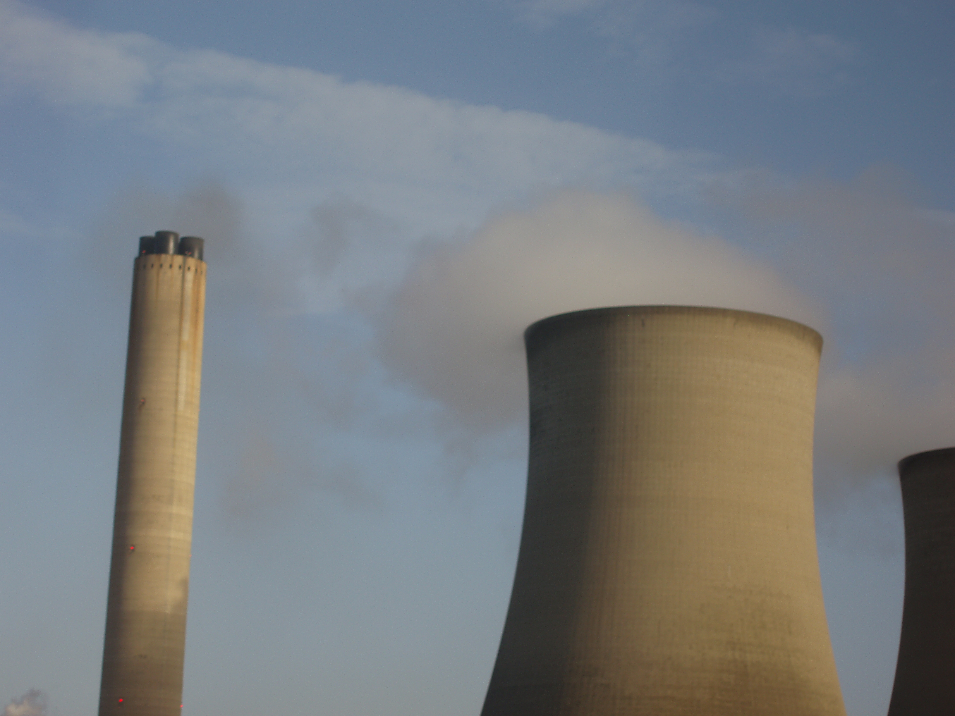 blurred cooling towers