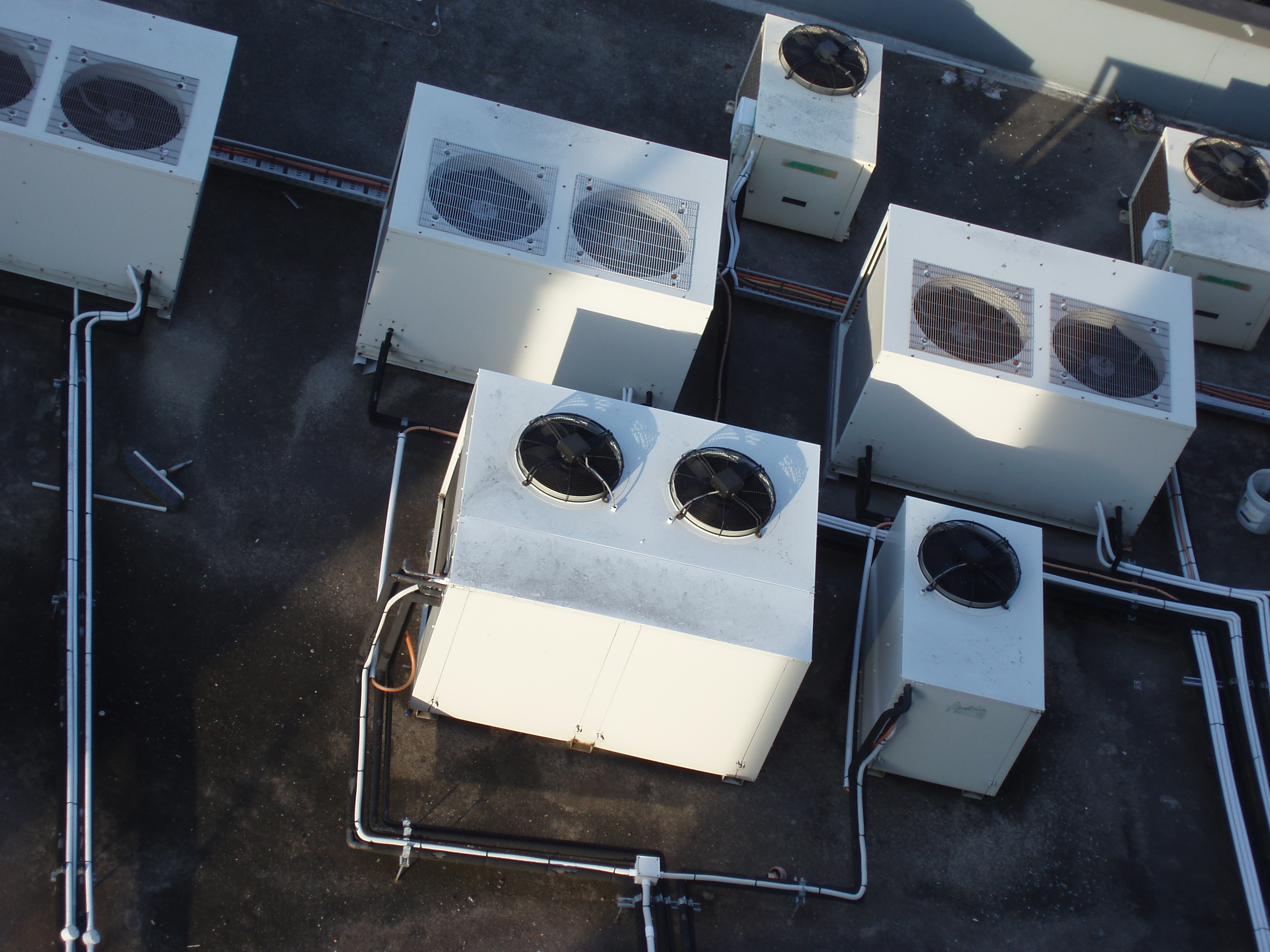rooftop air conditioning heat exchangers