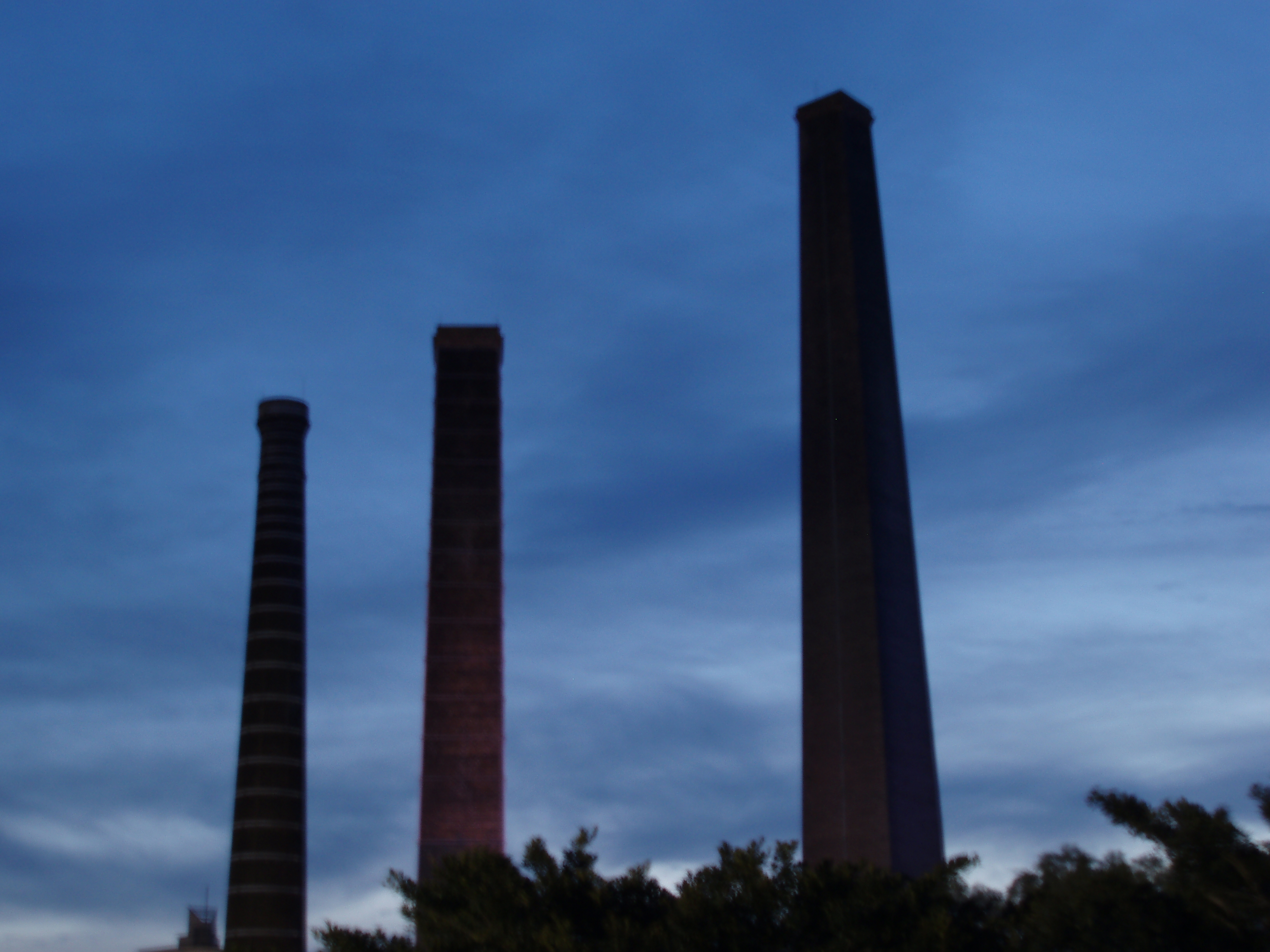 three chimneys, soft ehtereal focus