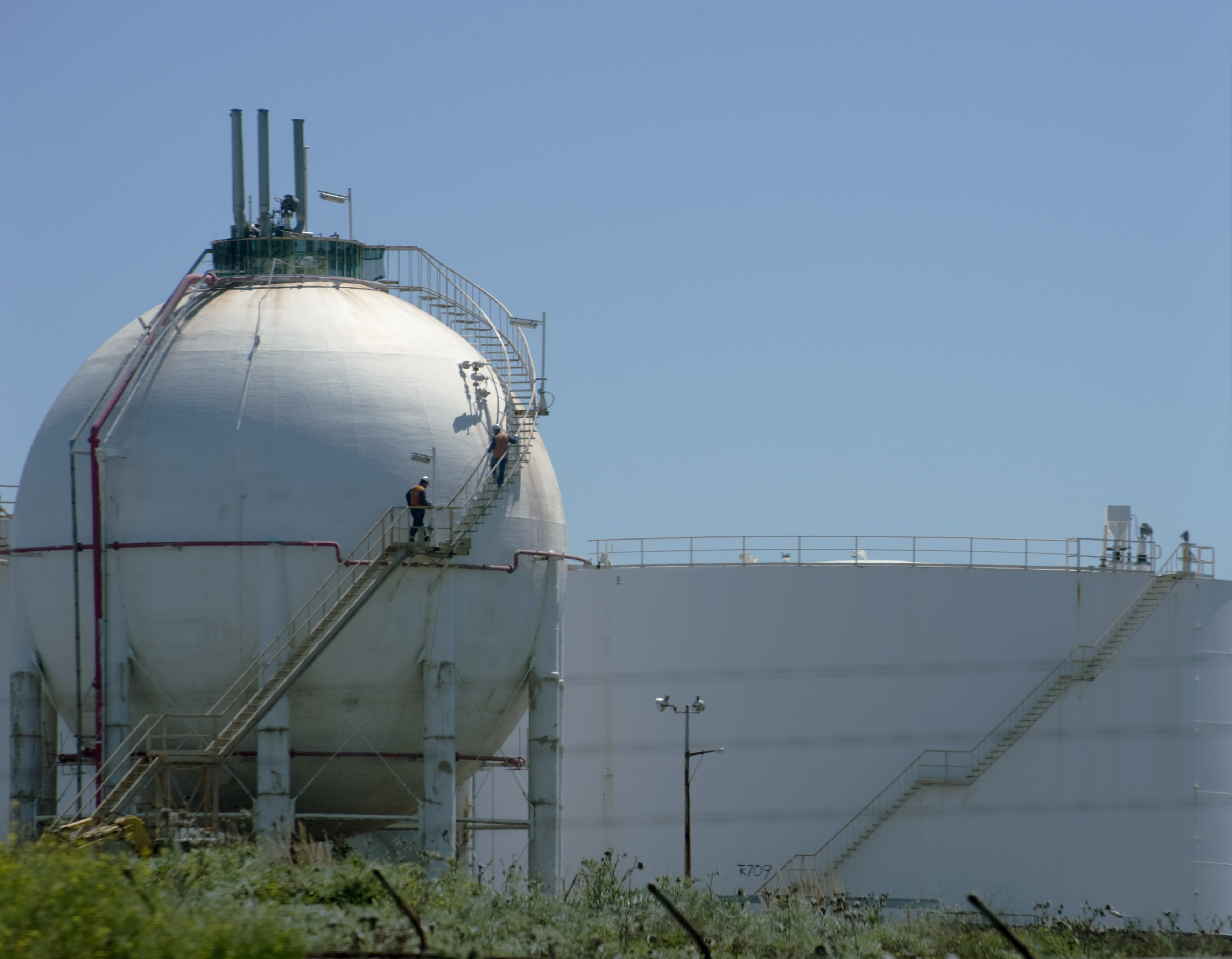 tanks at a chemical plant