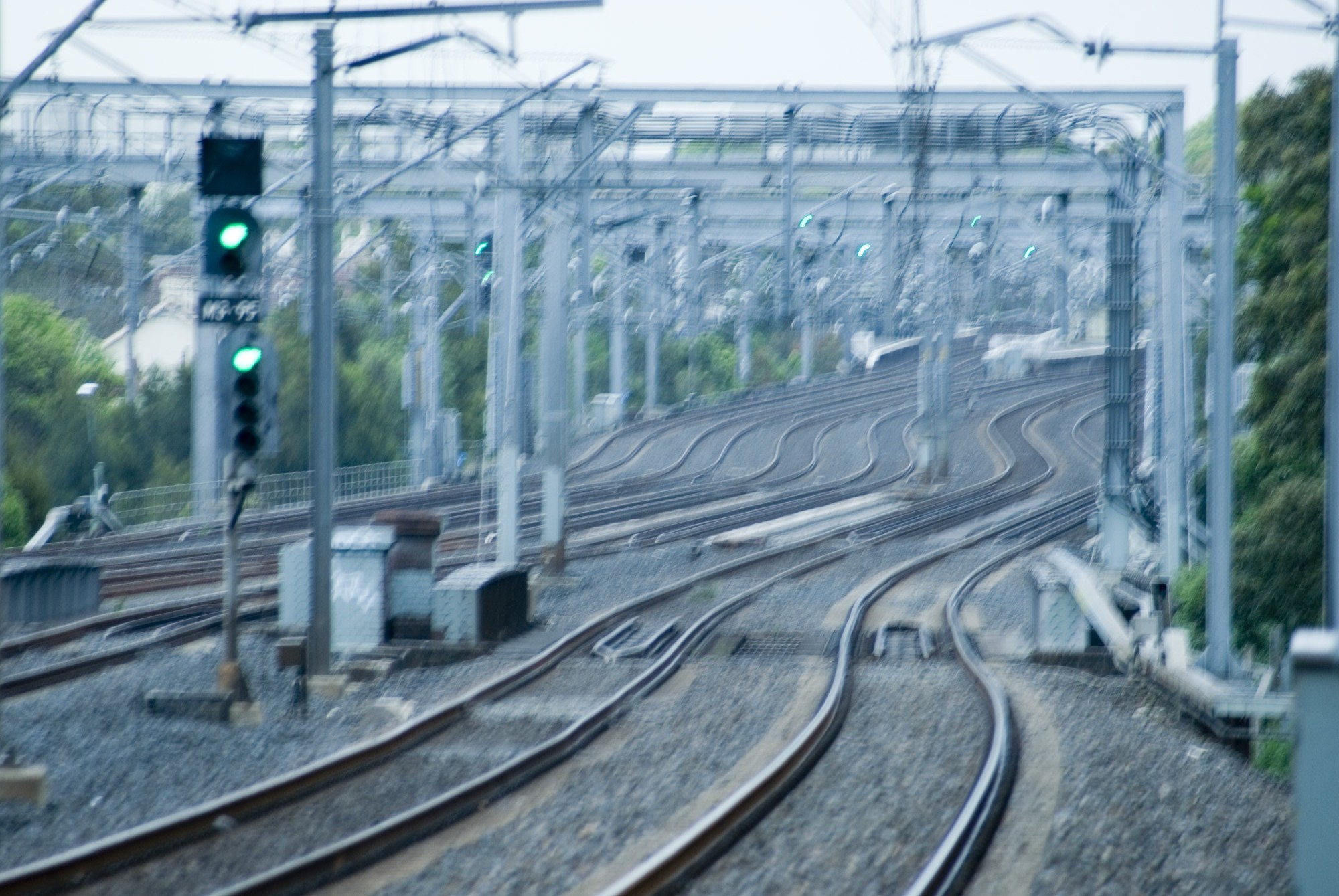 abstract photo of trainlines motion blur