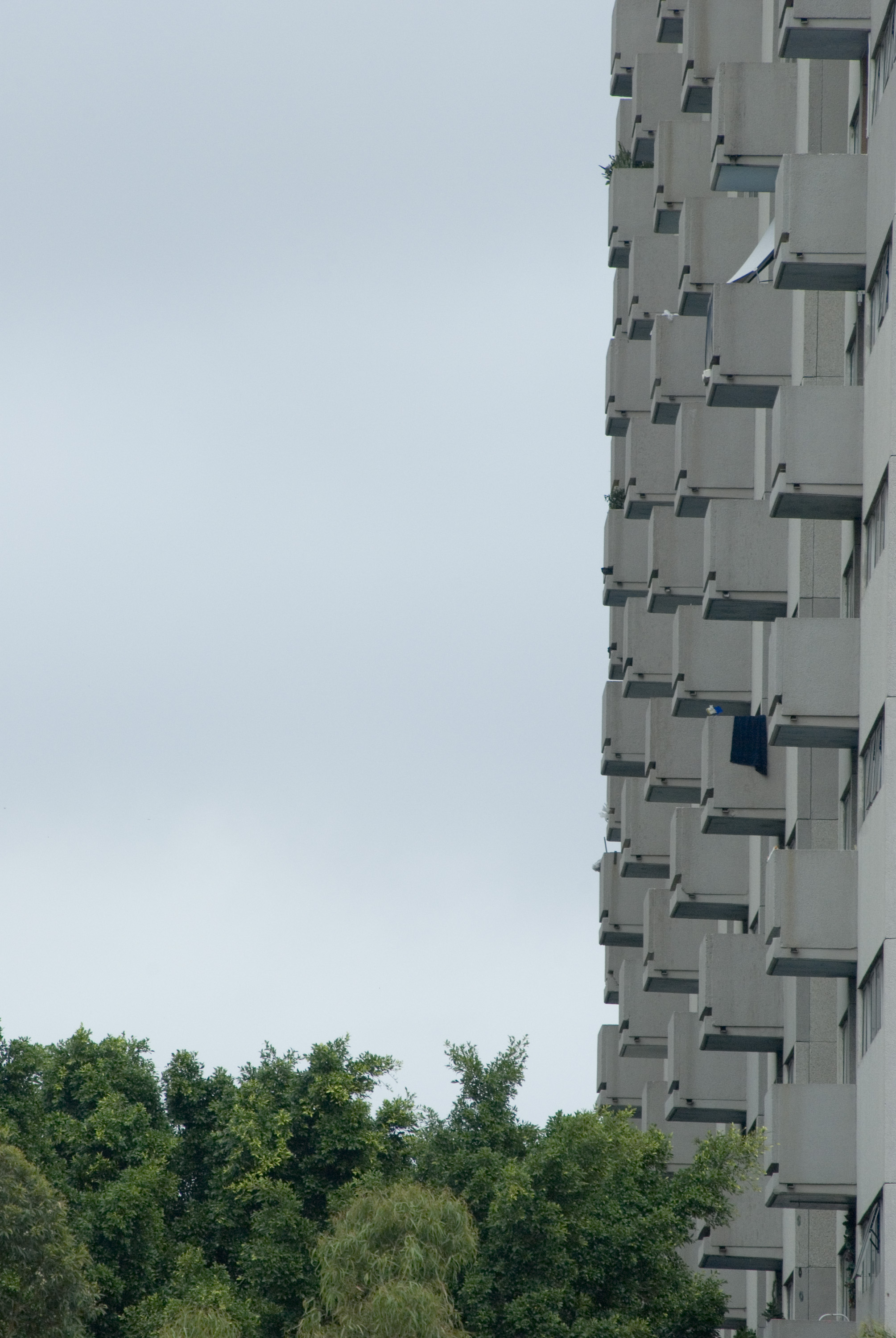 balconies on concrete towers