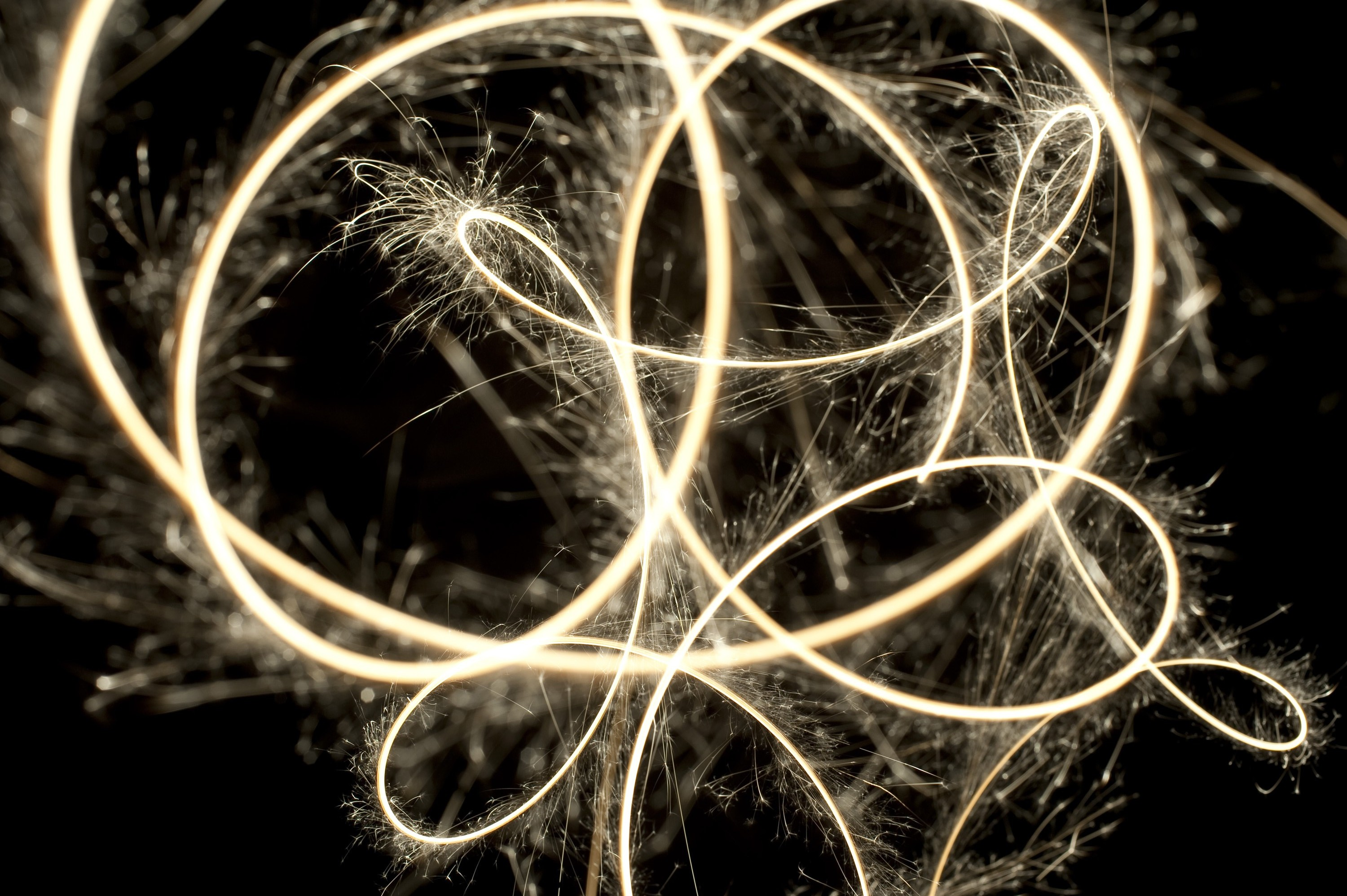 a sparkler trail plotting mathematical curves