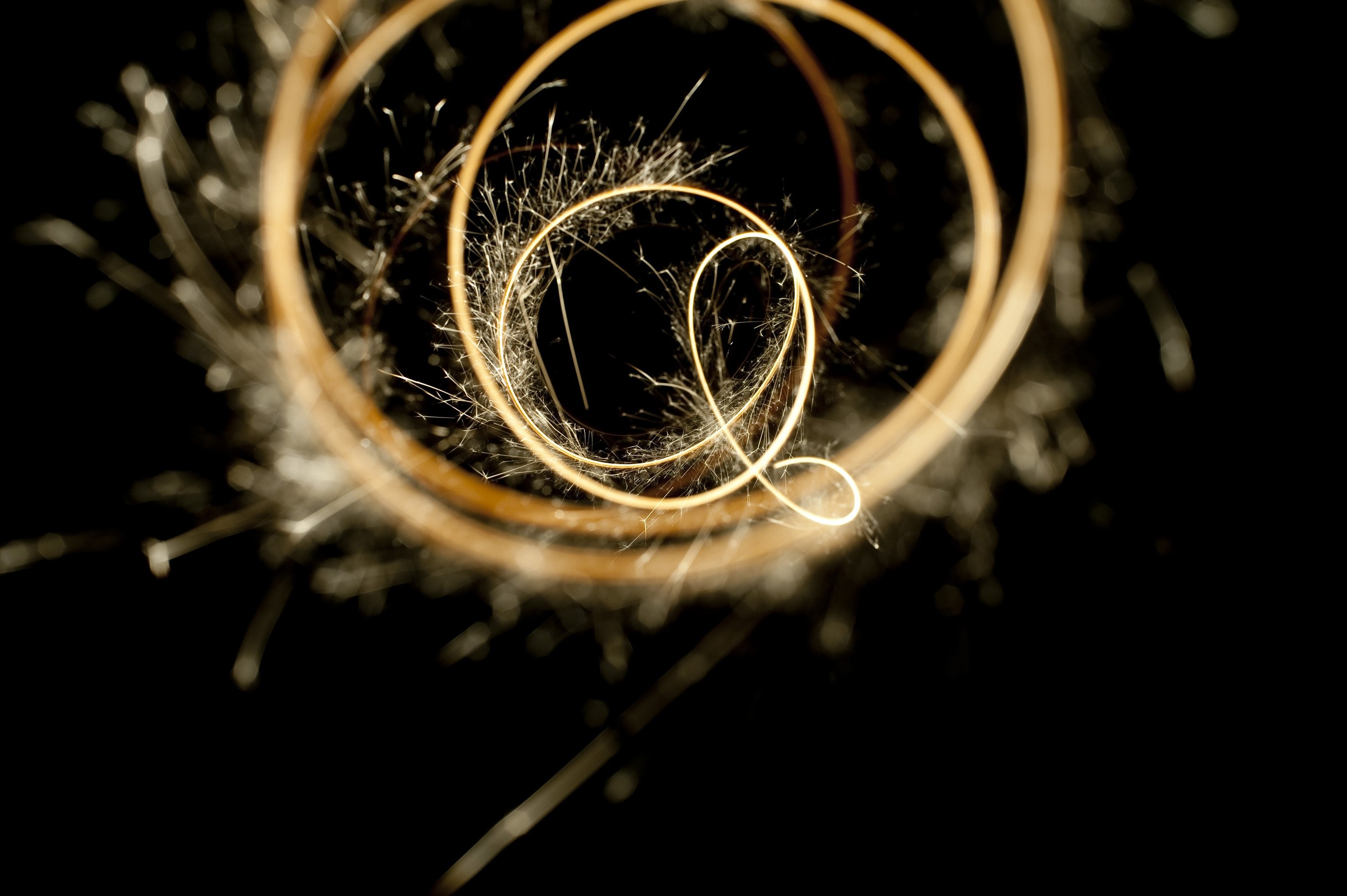 a plot of sparkler movement fading away