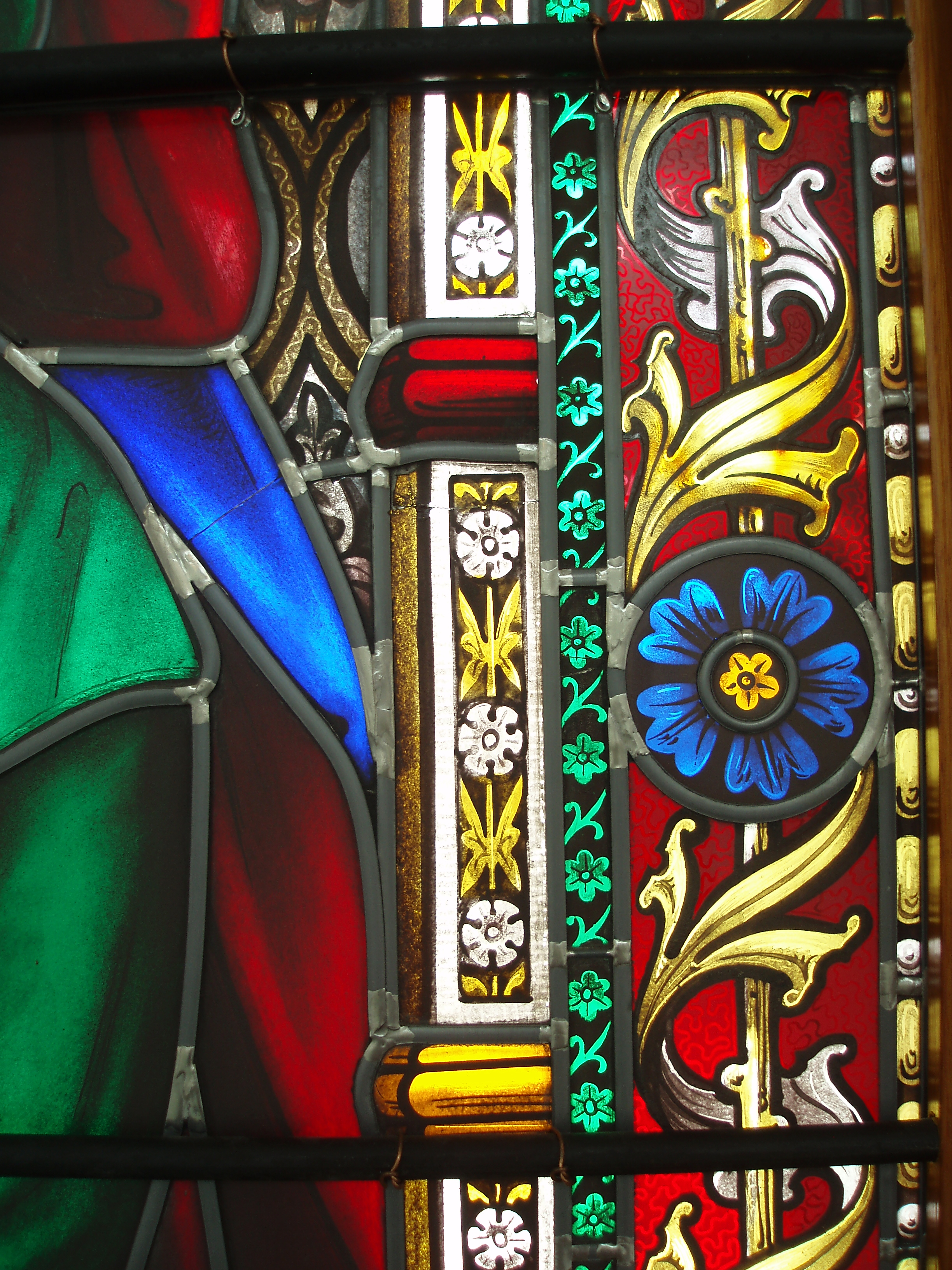 close up image of a stained glass window