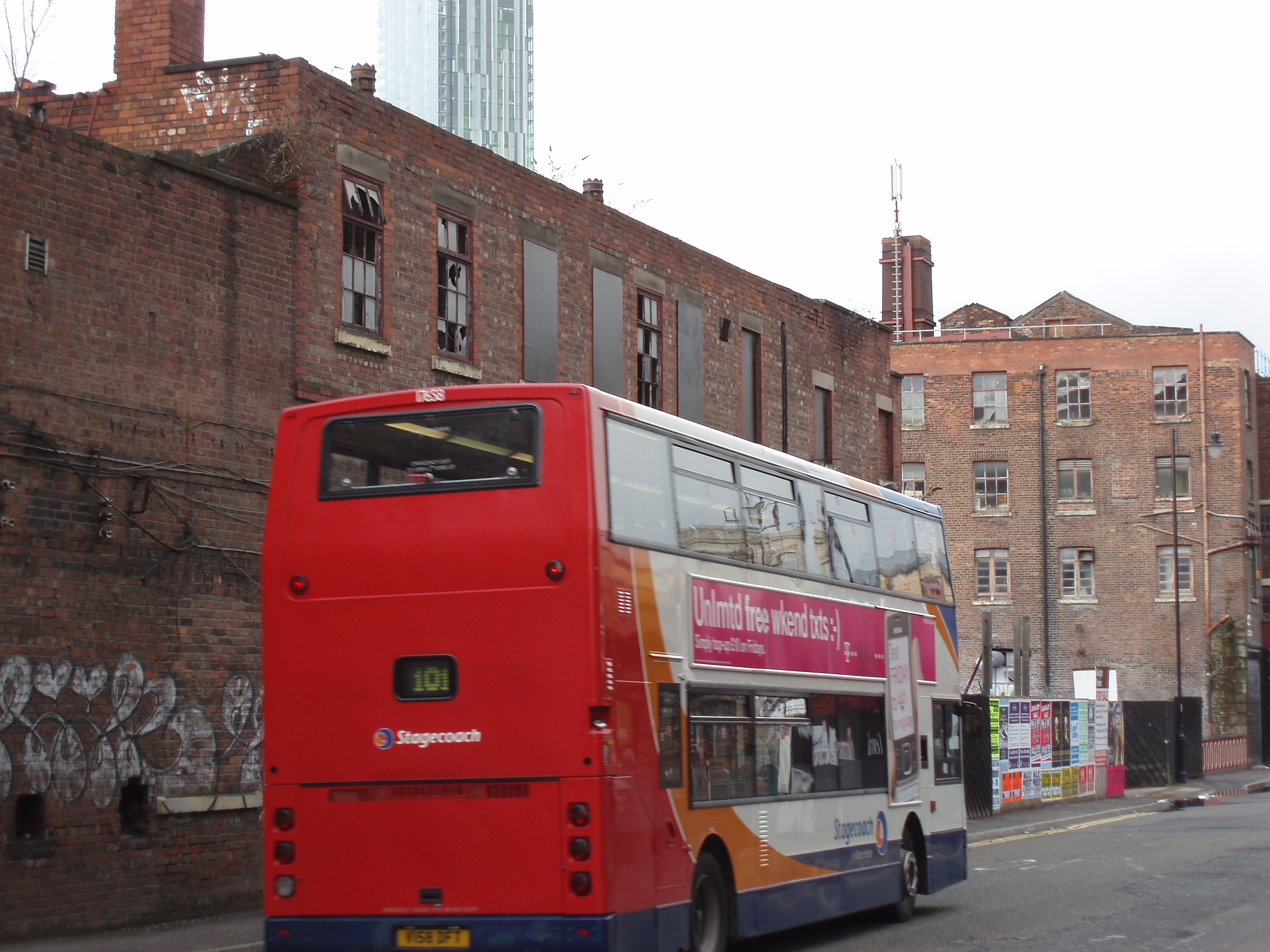 double decker bus, manchester