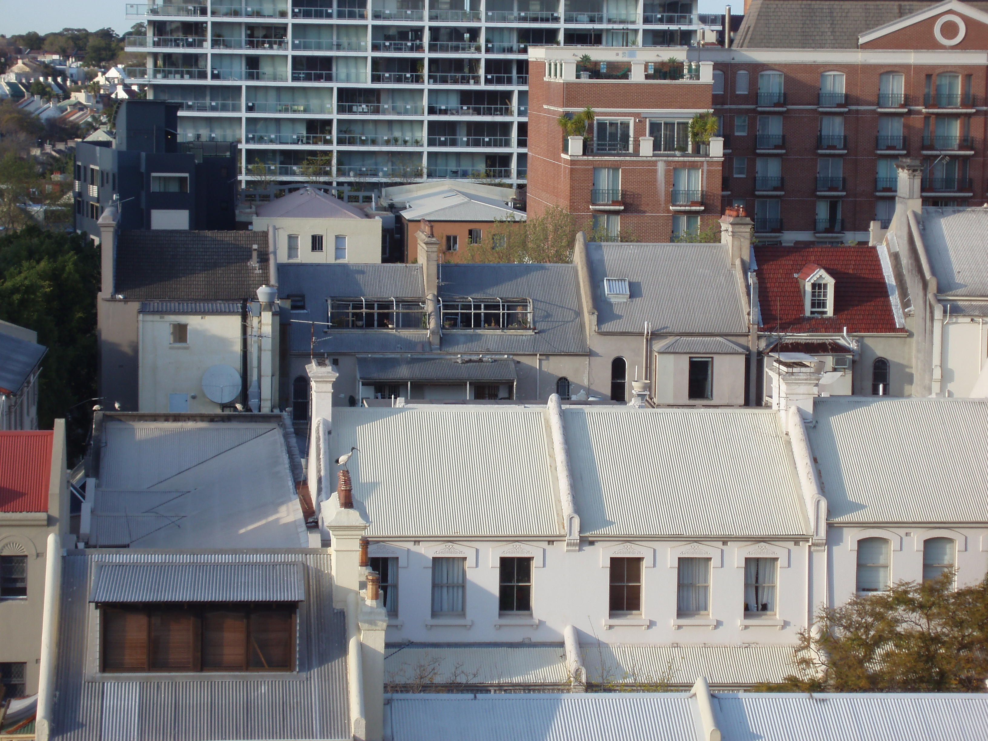 various types of building in a city taken from a elevated location