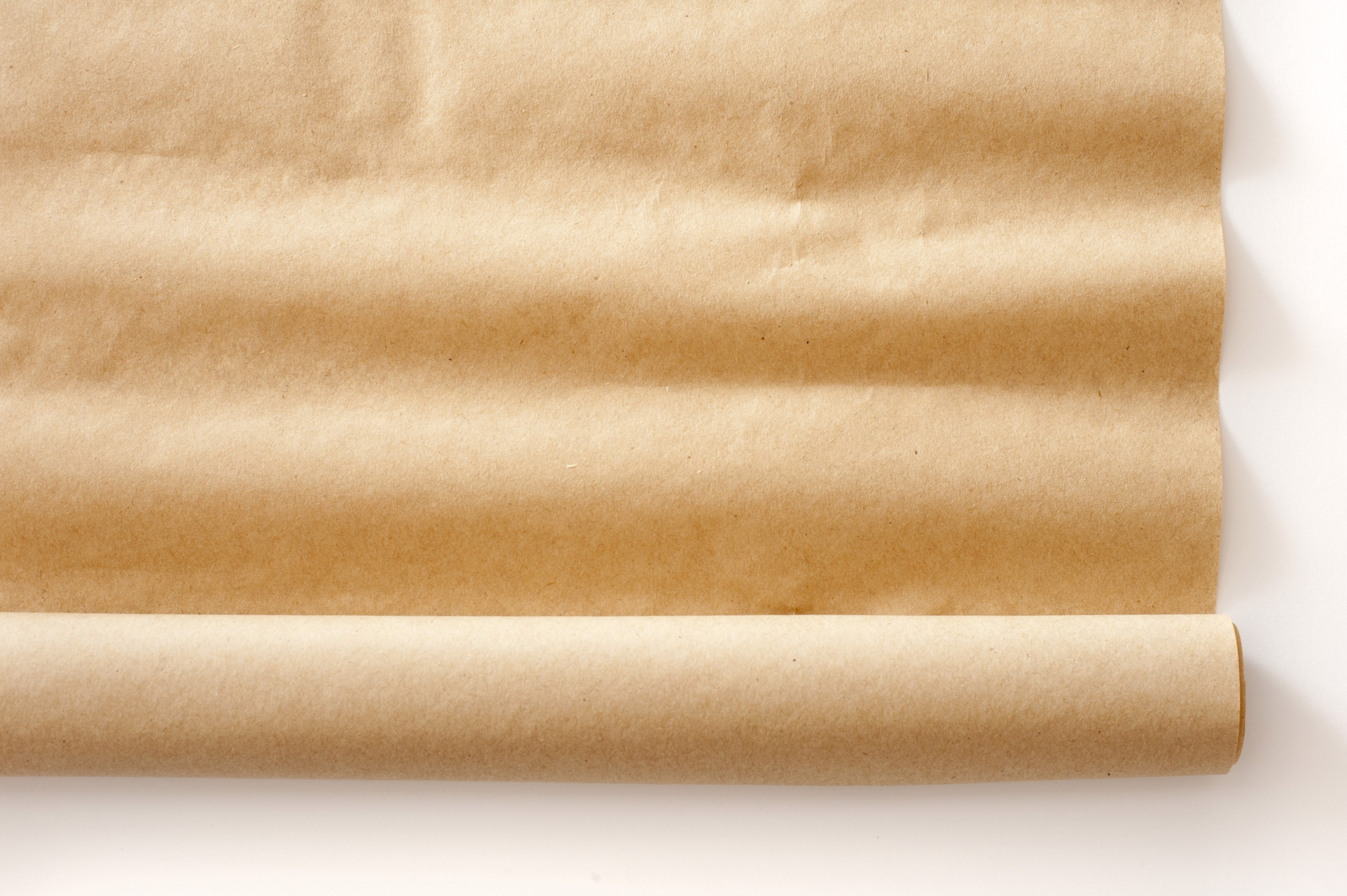a roll of brown packing paper