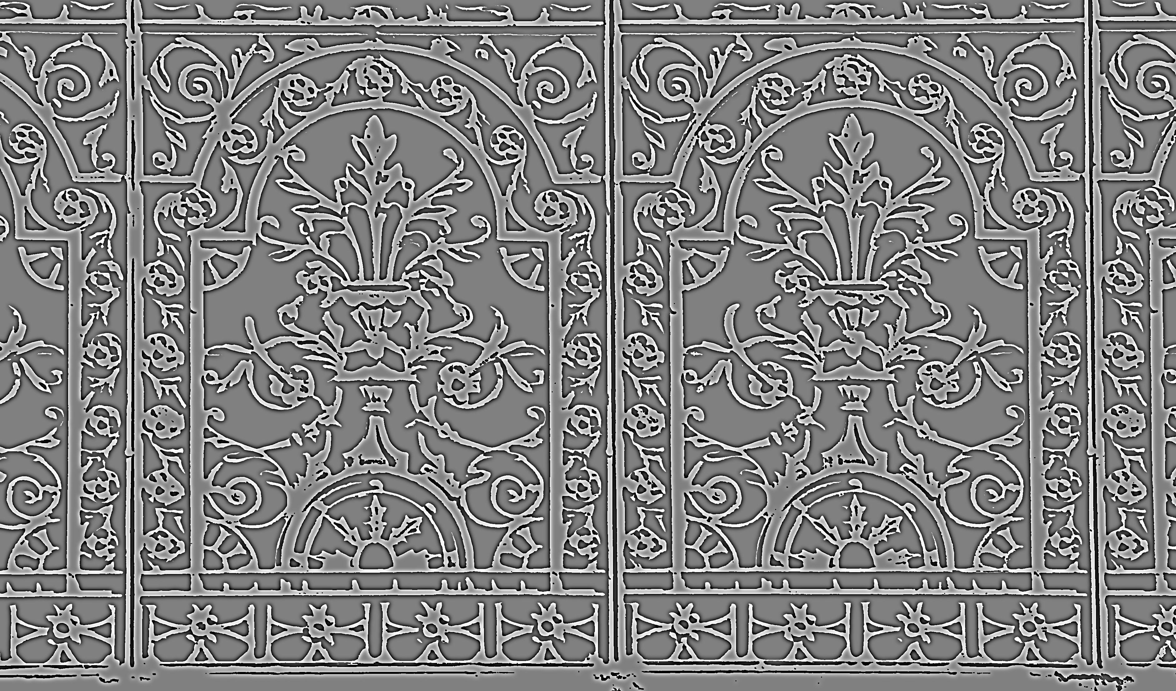 texture details of ironwork panel