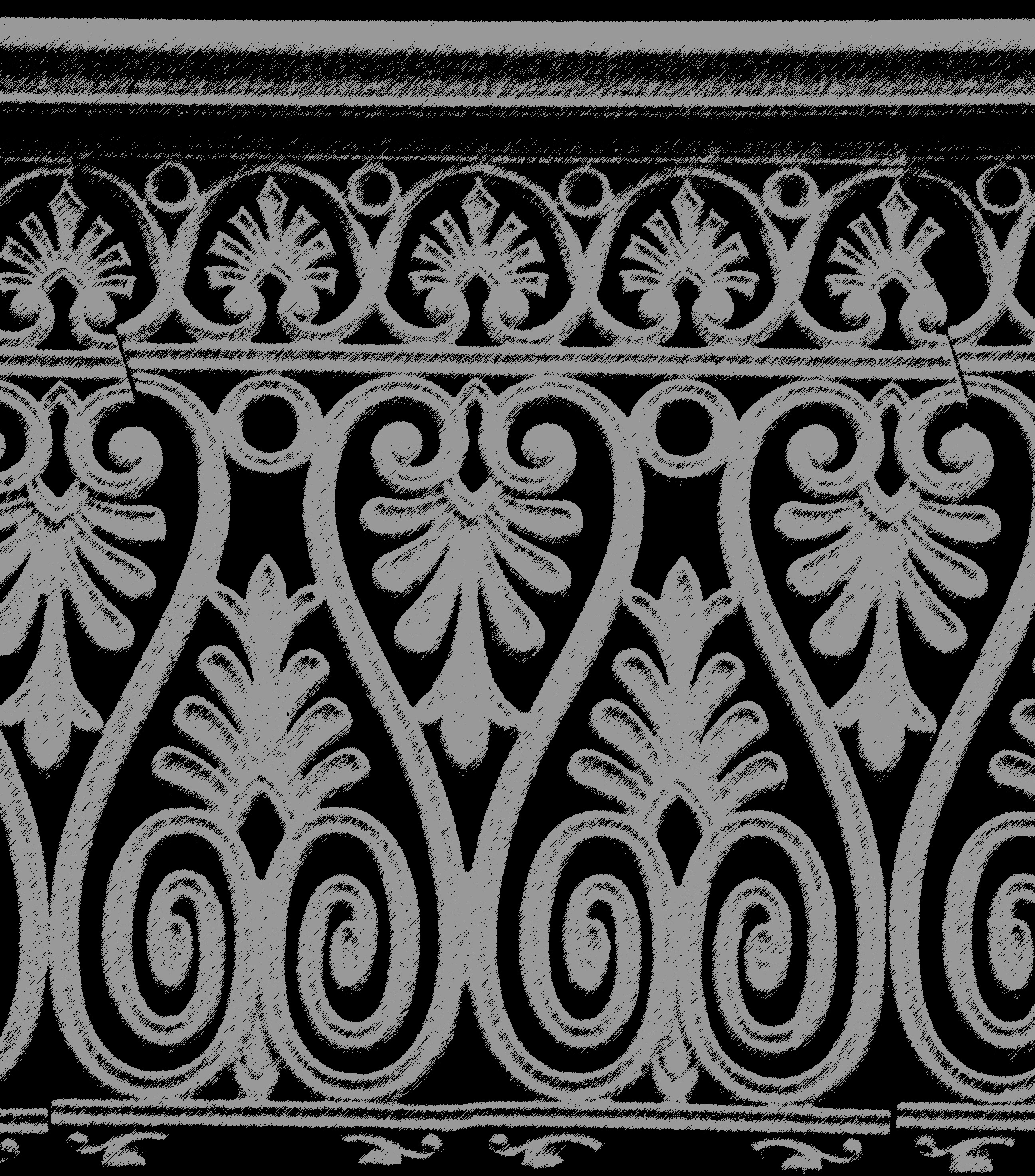 Decorative iron work grunge graphic free backgrounds and grainy image of cast iron decorative fence panels baanklon Choice Image
