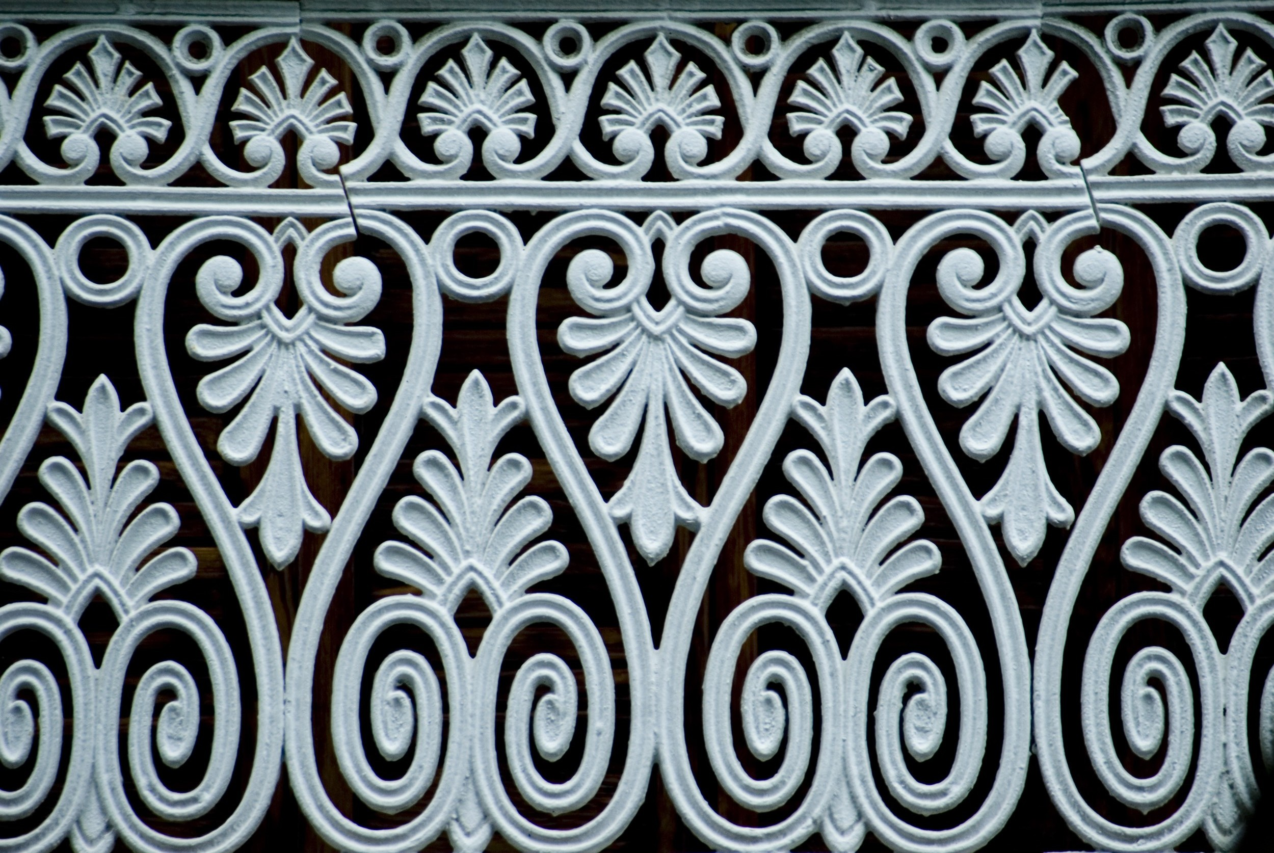 ornate ironwork railing