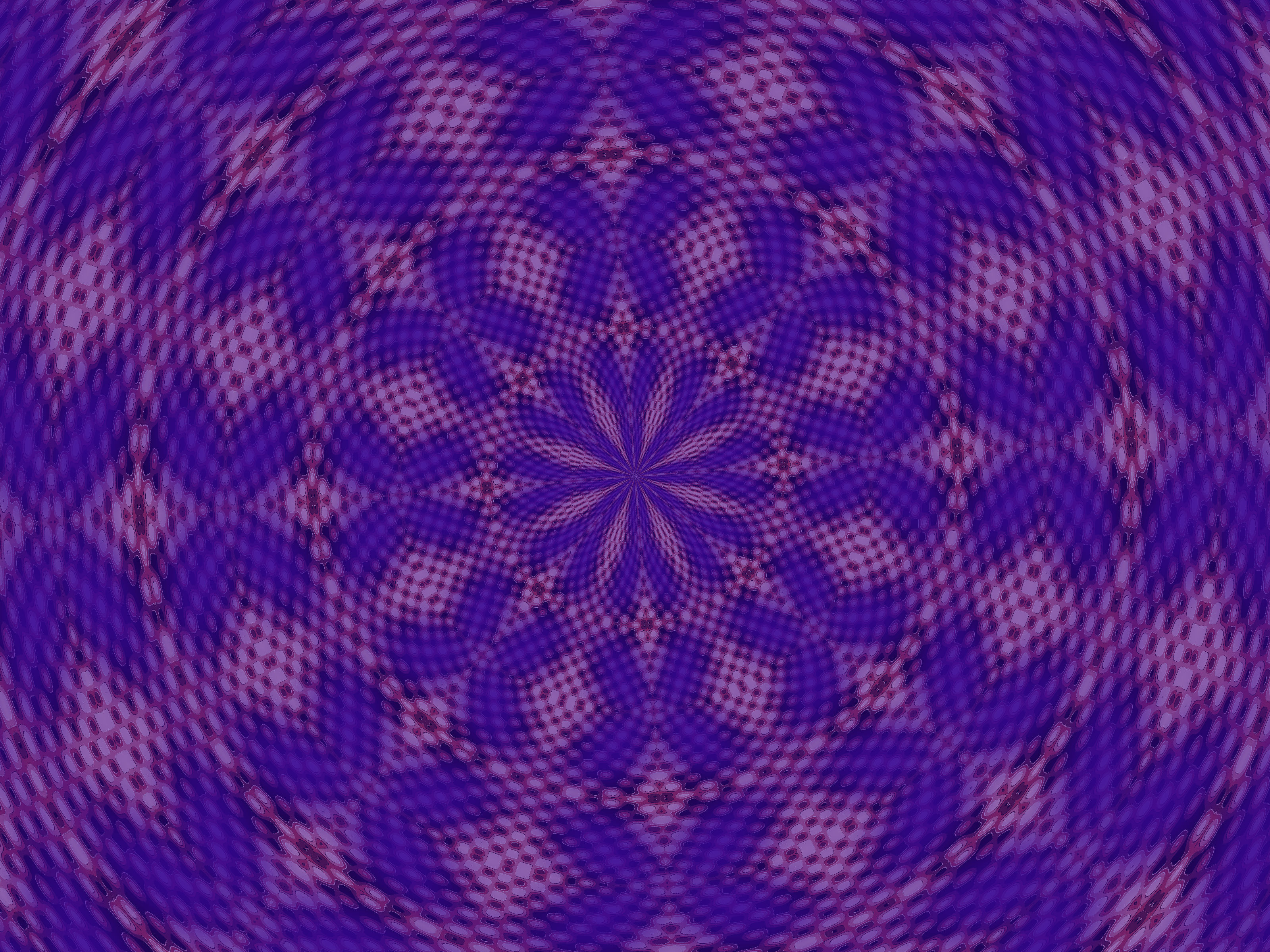 rotational symmetrical pattern in blue and purple
