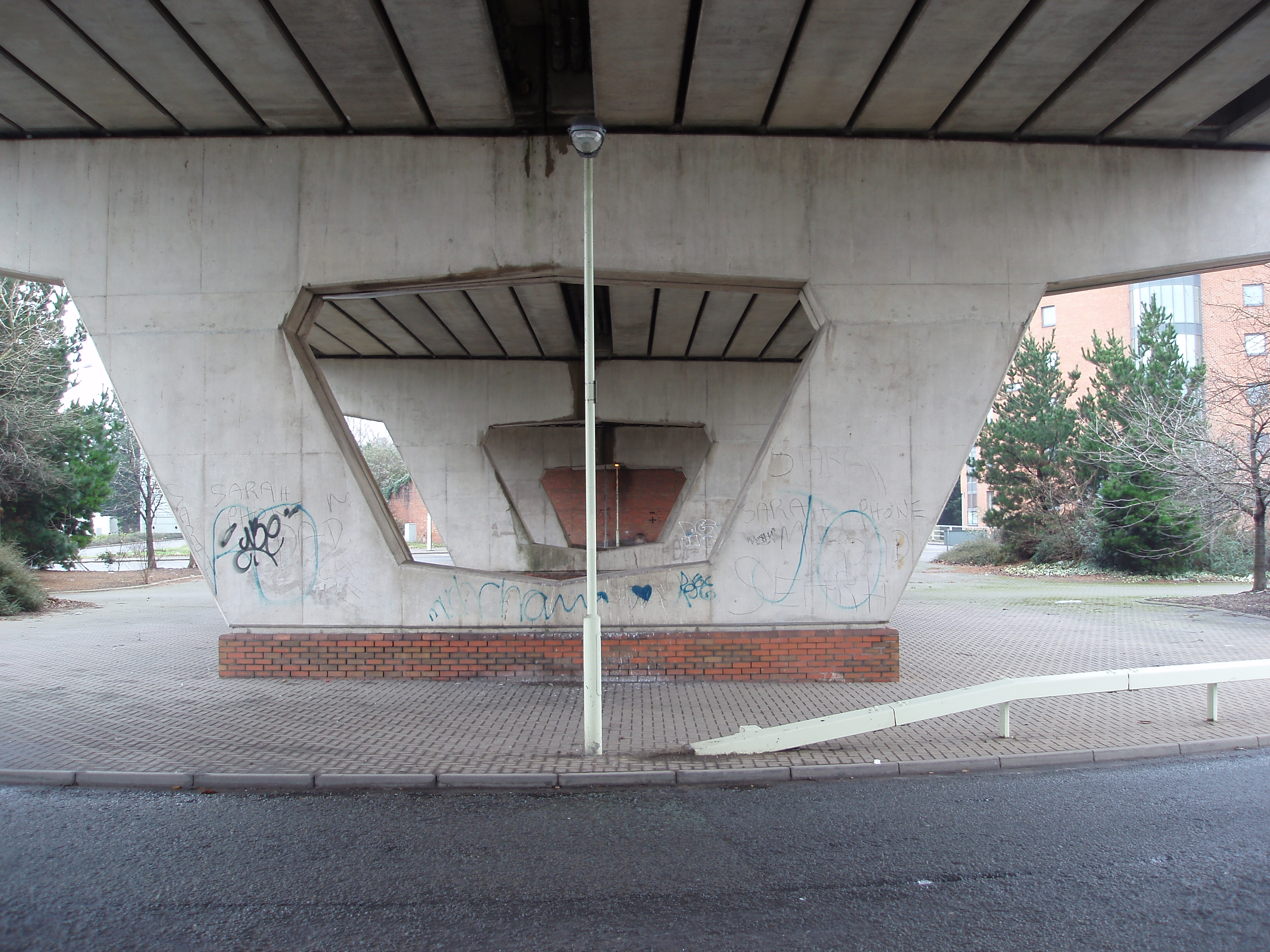 roundabout under the flyover