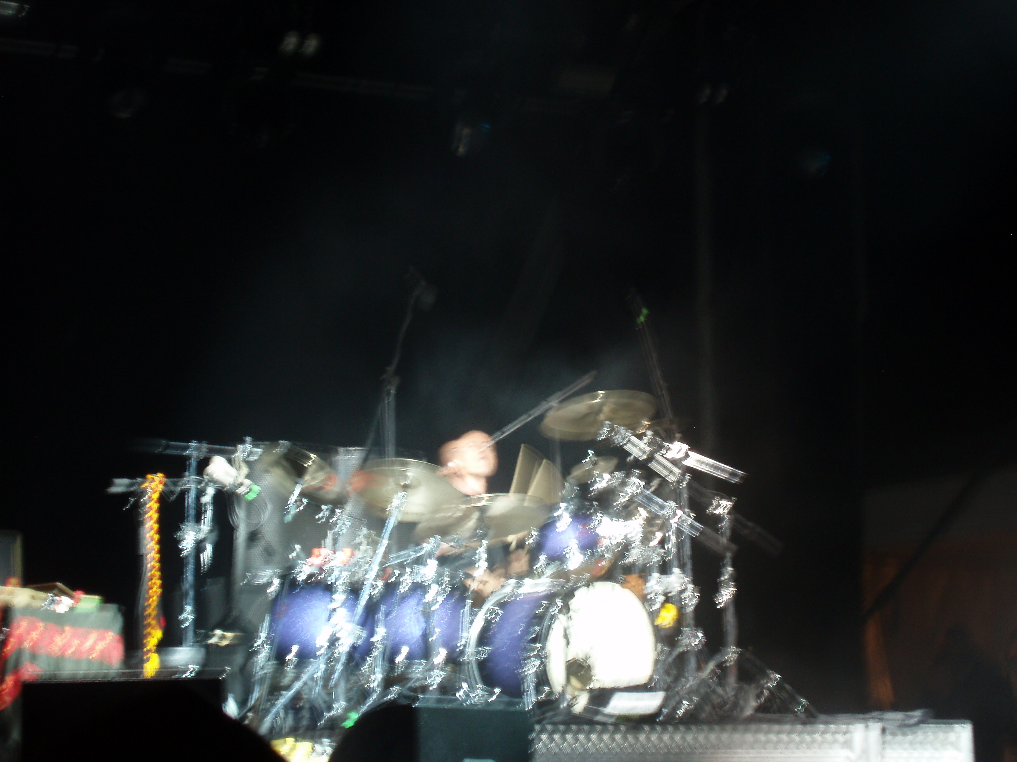abstract blur of a drumset