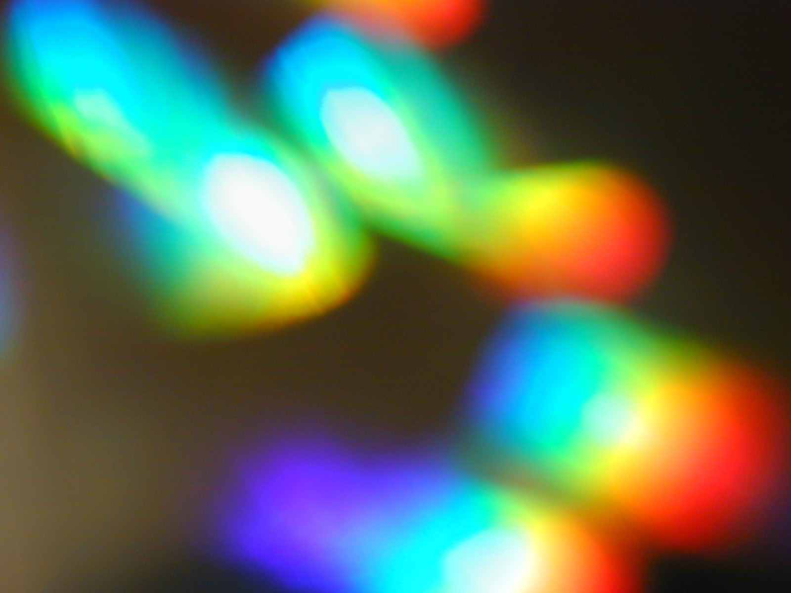 abstract image of rainbow coloured lights