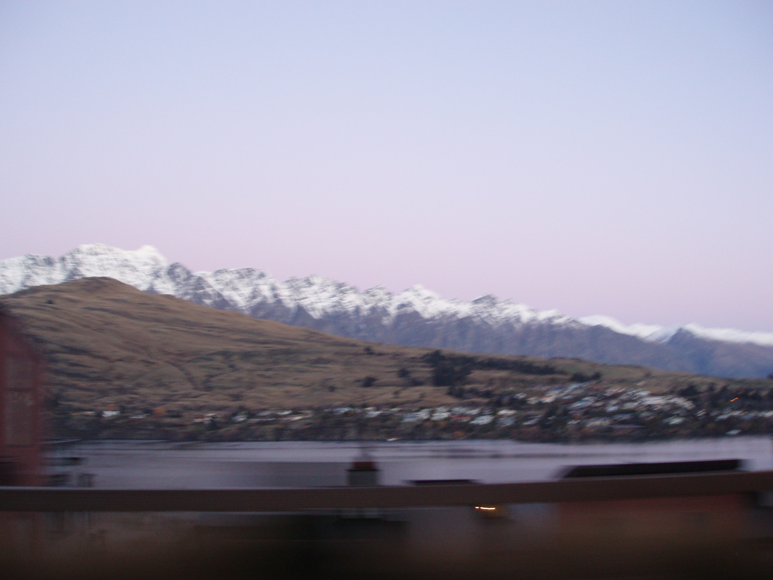remarkables in motion with snow on the upper slopes