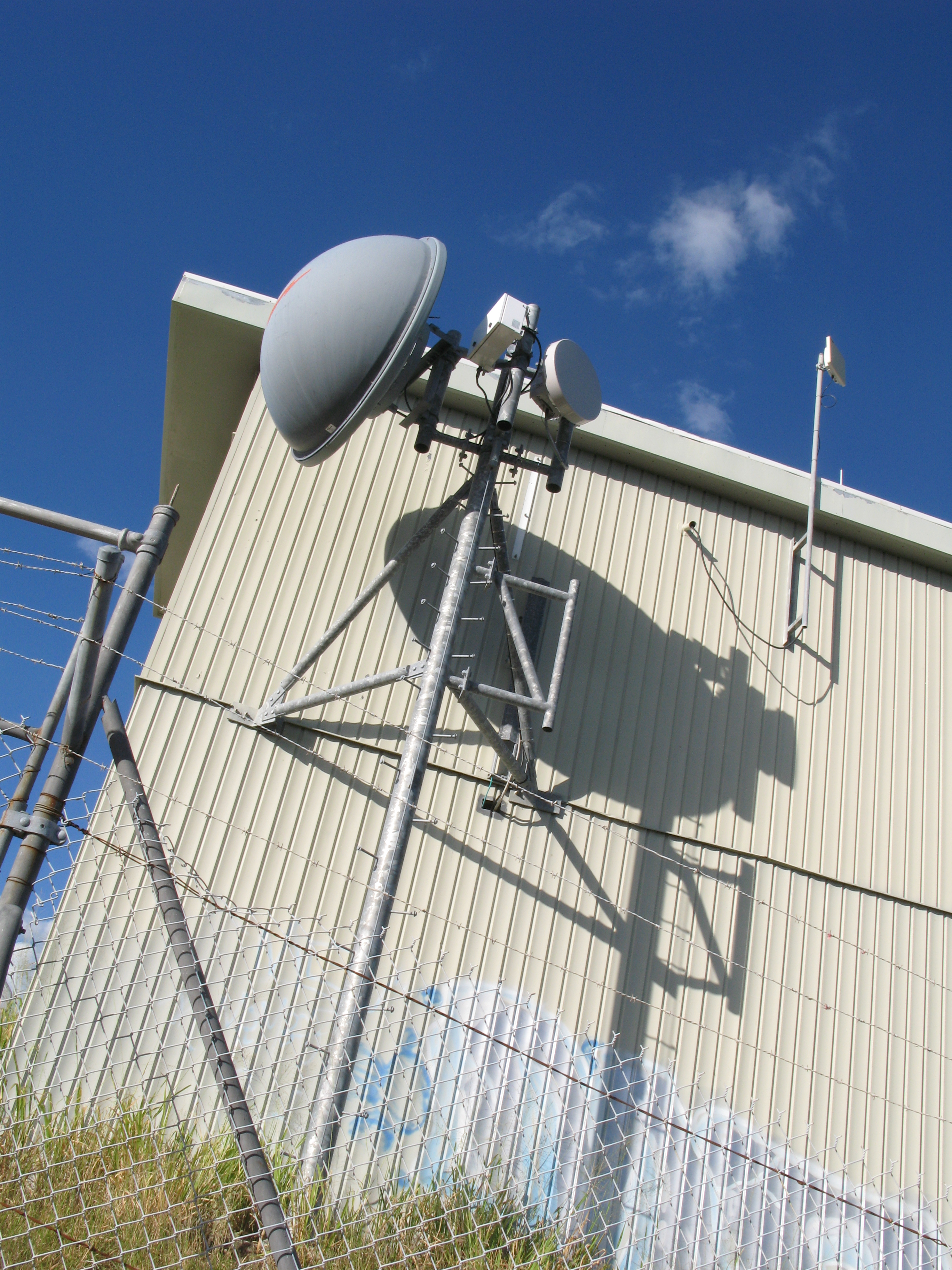 communications and mobile phone microwave antenna dish