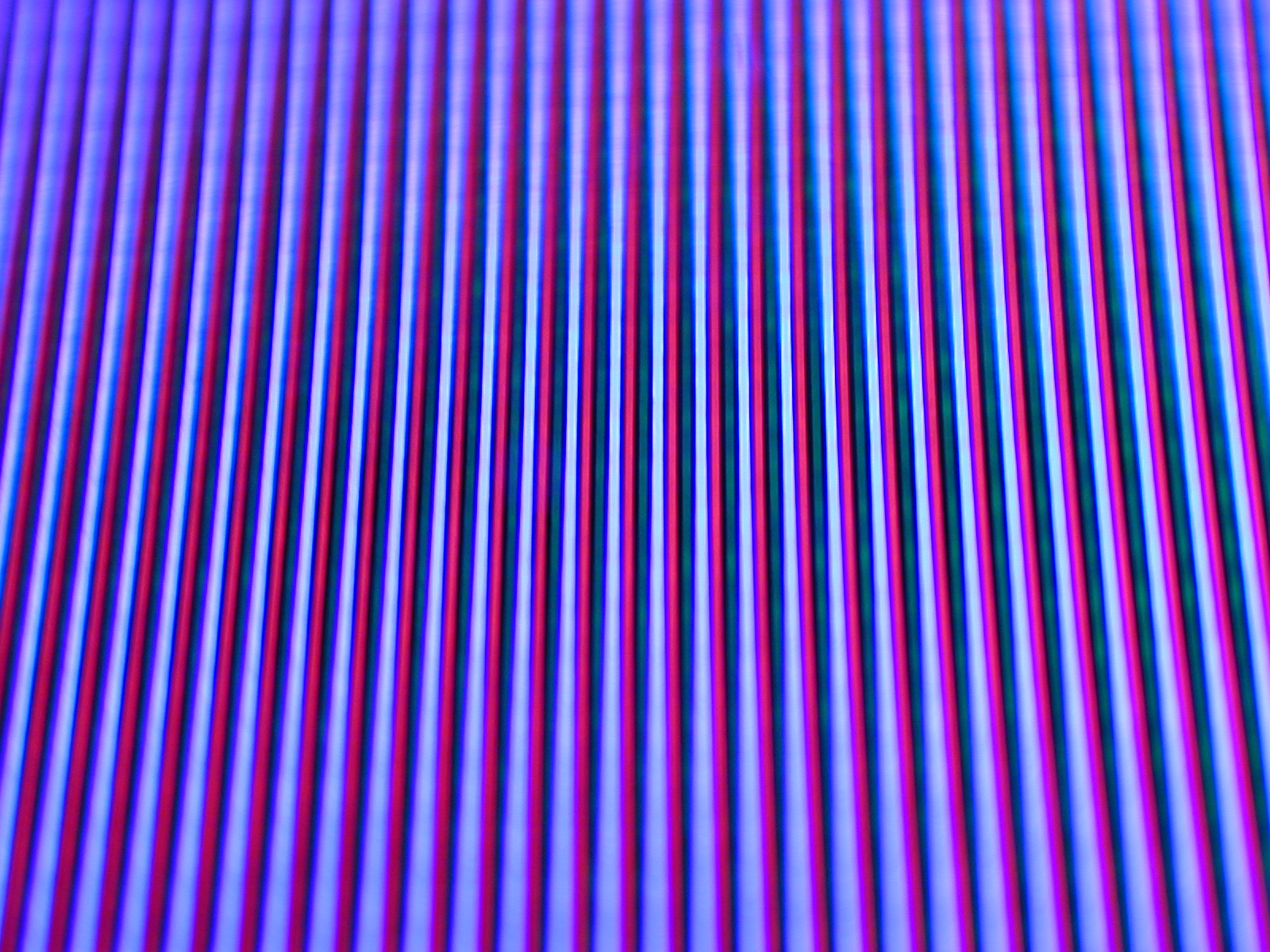 lines of RGB colour on a CRT screen viewed with a macro lens