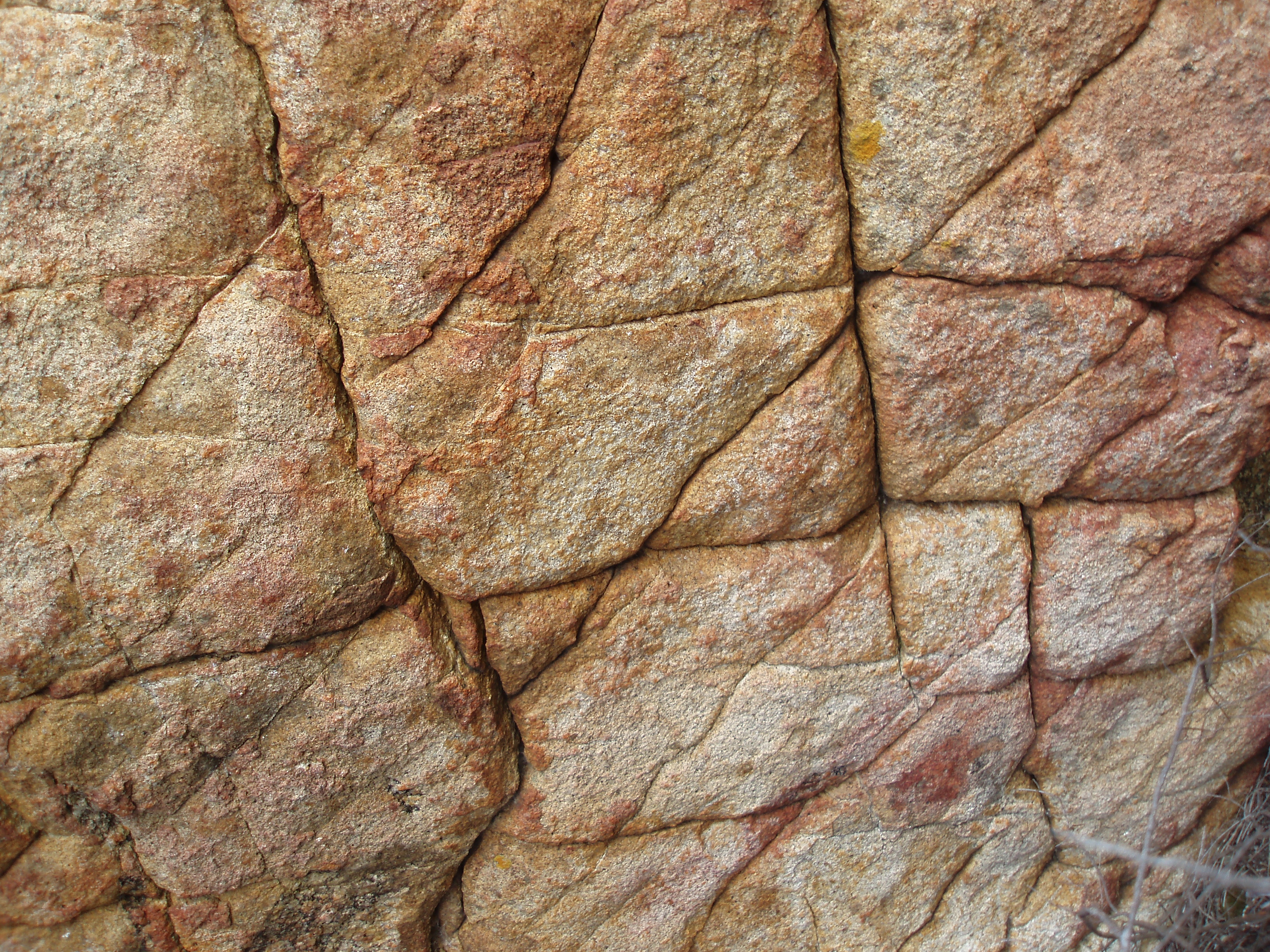 weather cracked sandstone rock pavement