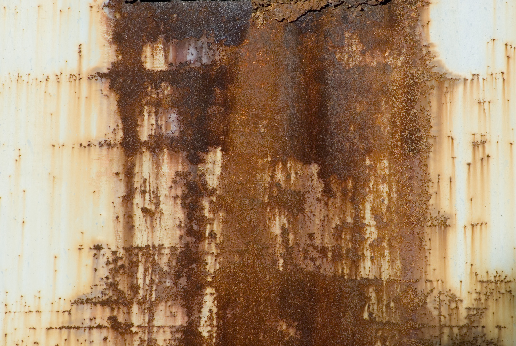 rusty stained orange metal