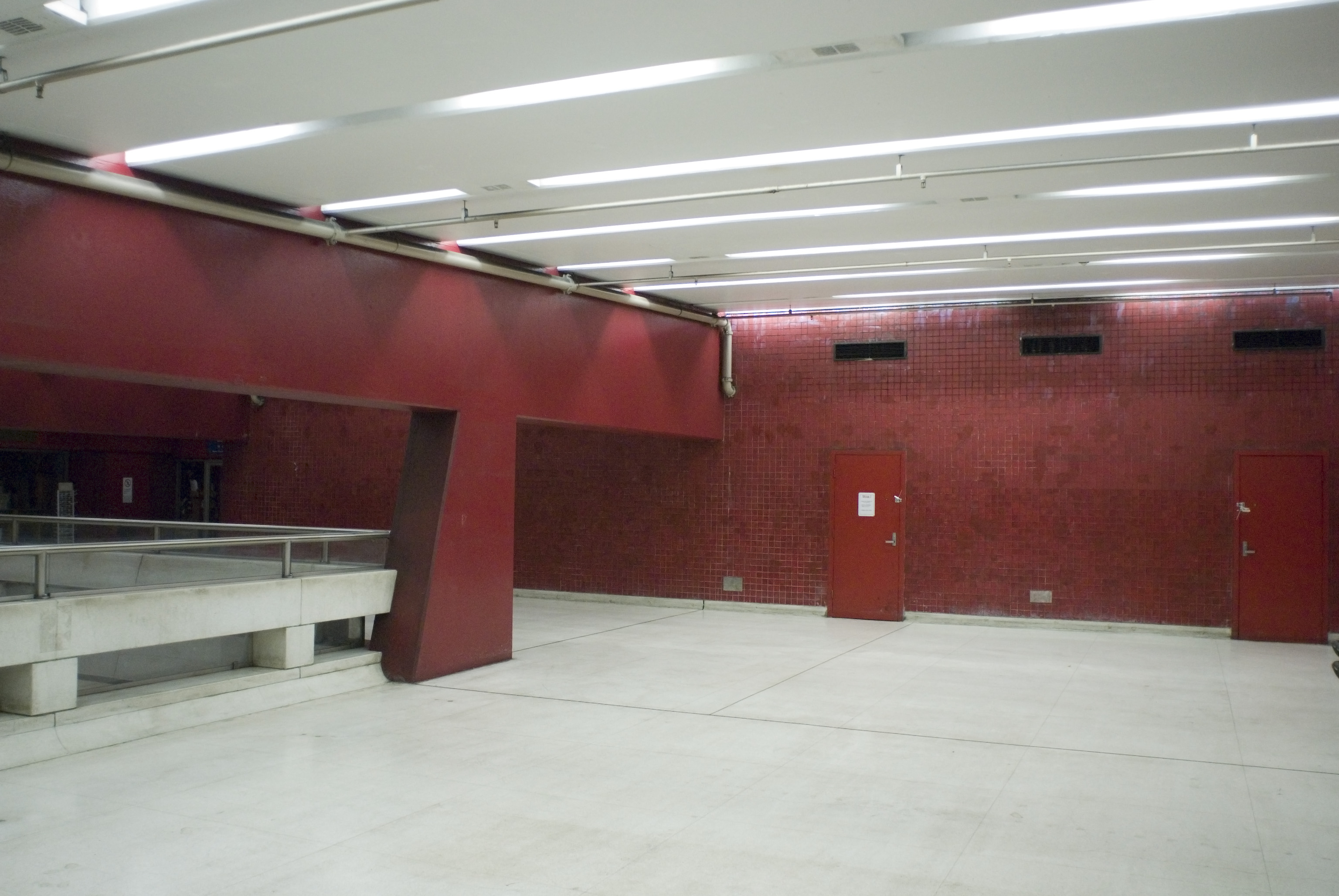 interior of martin place subway station